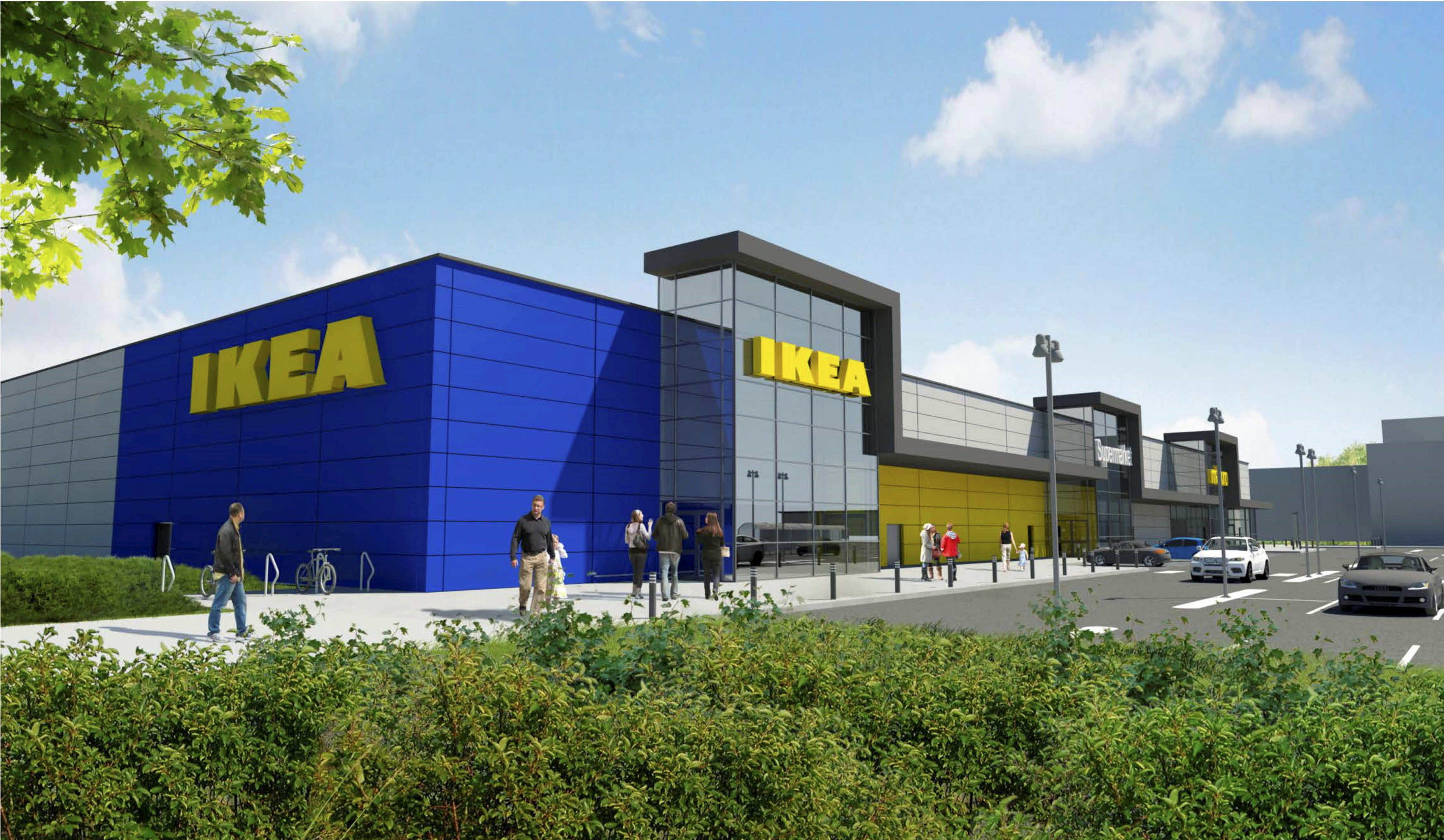 An artist's impression of what the finished IKEA could look like.