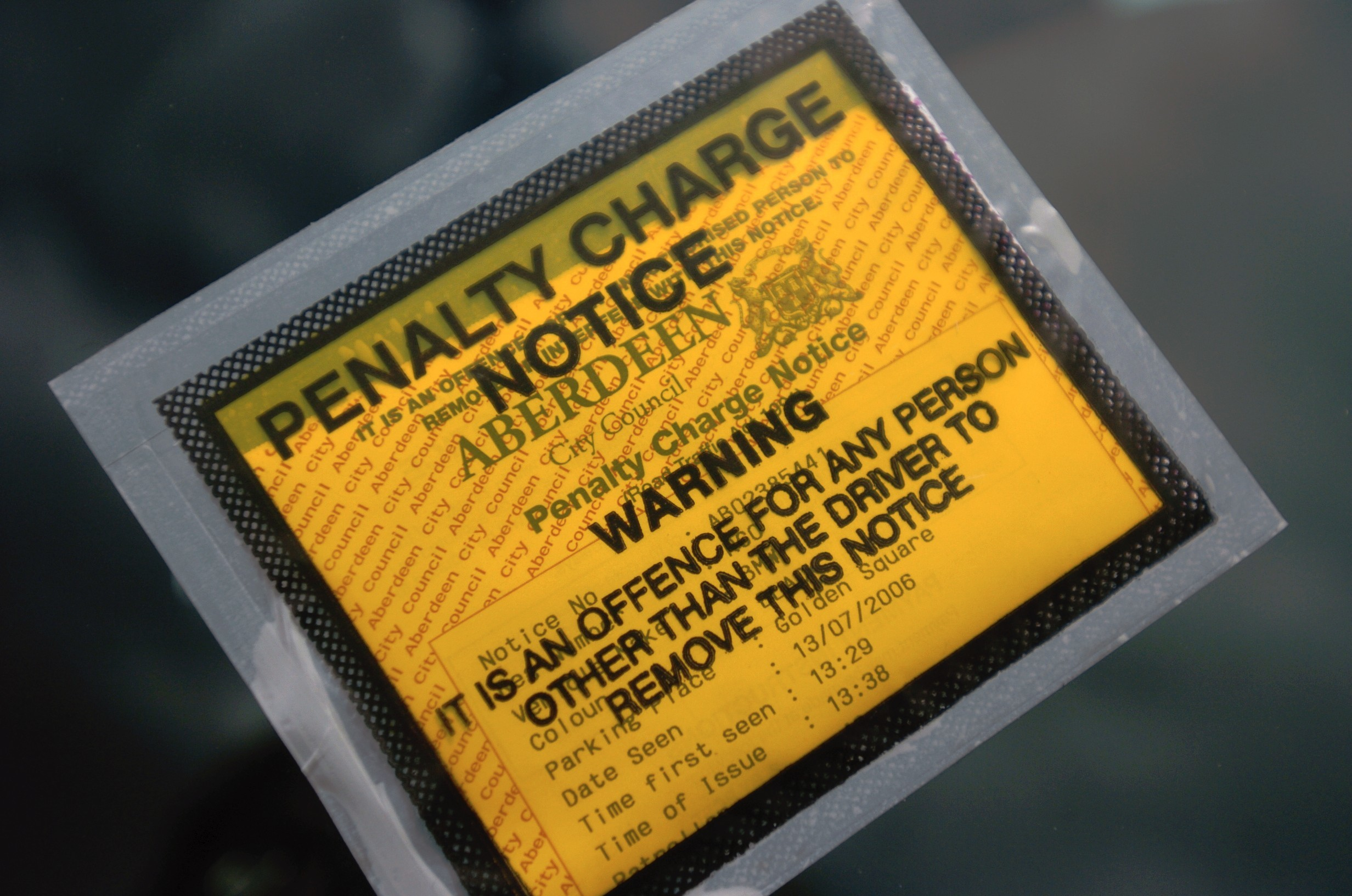 One car has racked up £21,270 in outstanding parking fines.