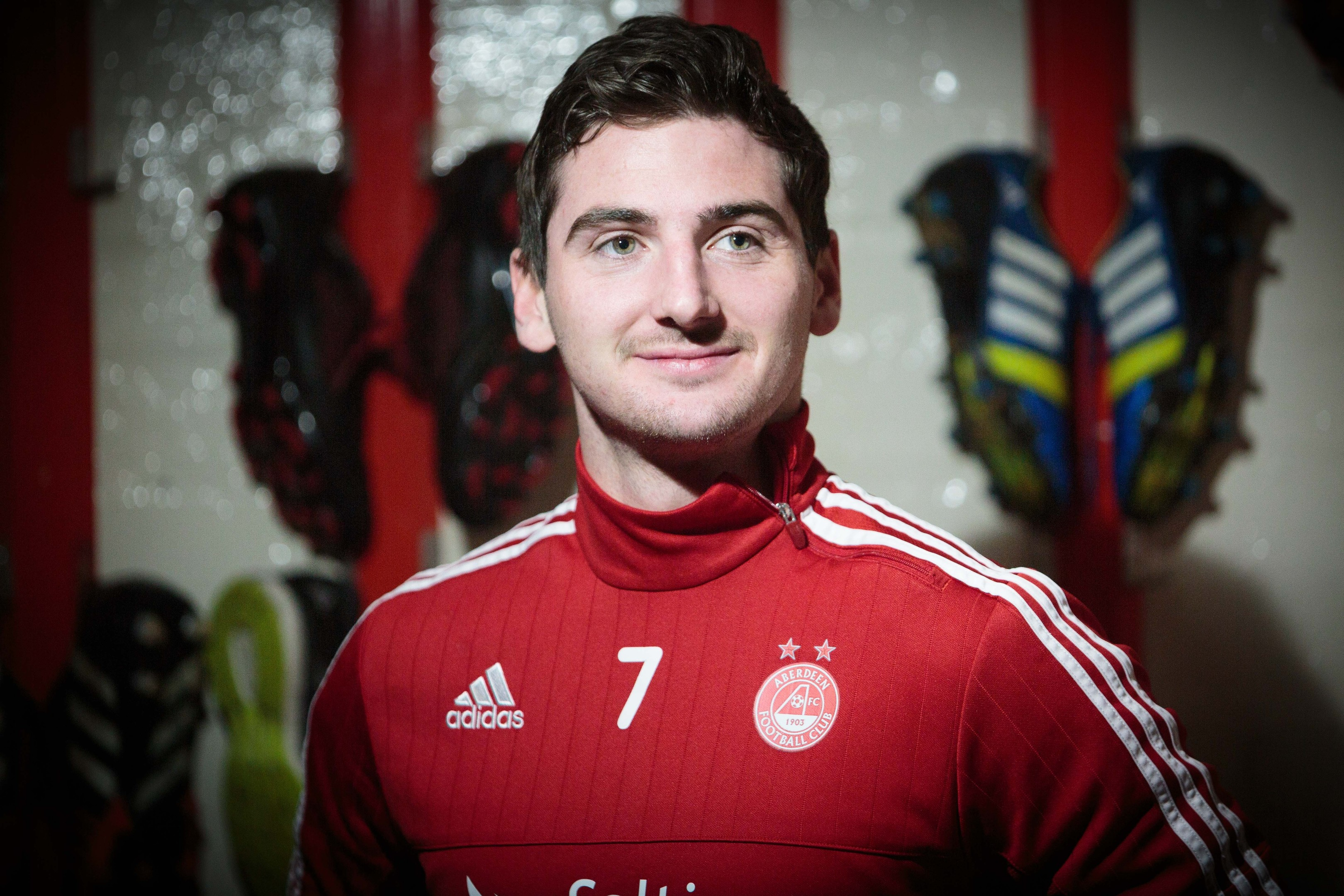Aberdeen's Kenny McLean at Pittodrie.