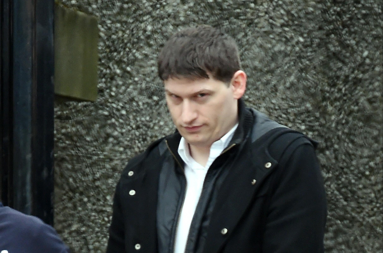 Mark Ingram leaving court.