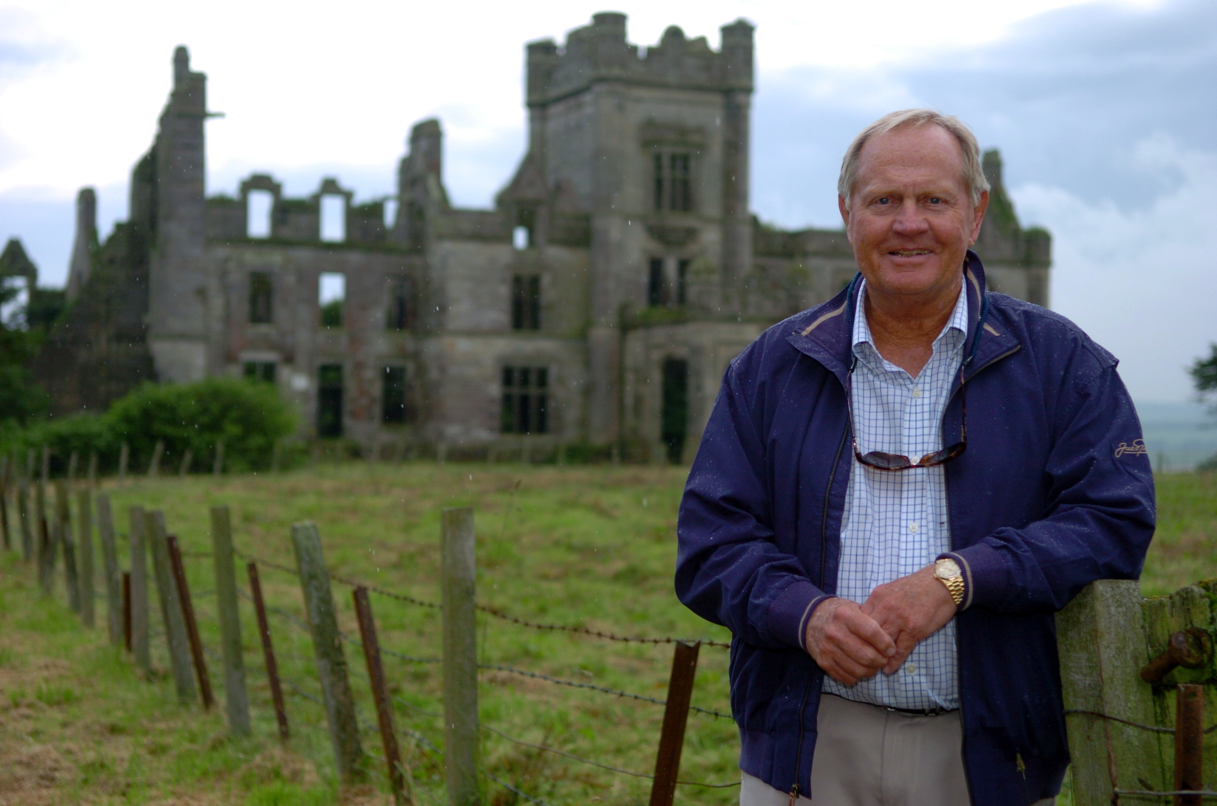 Jack Nicklaus at the Ury Estate, Stonehaven,