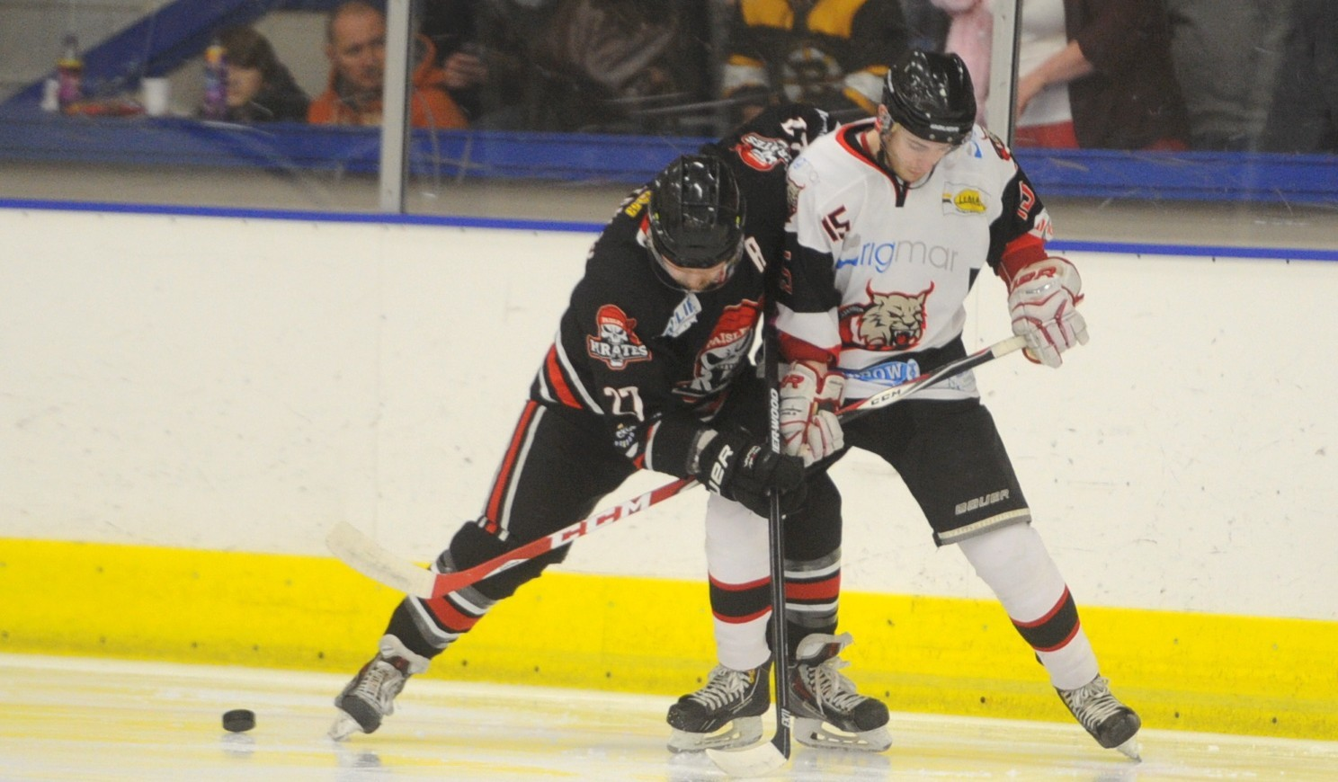 Lynx's Iain Malcolm, right, and Paisley Pirate  Scott Cowan.  Picture by Chris Sumner.