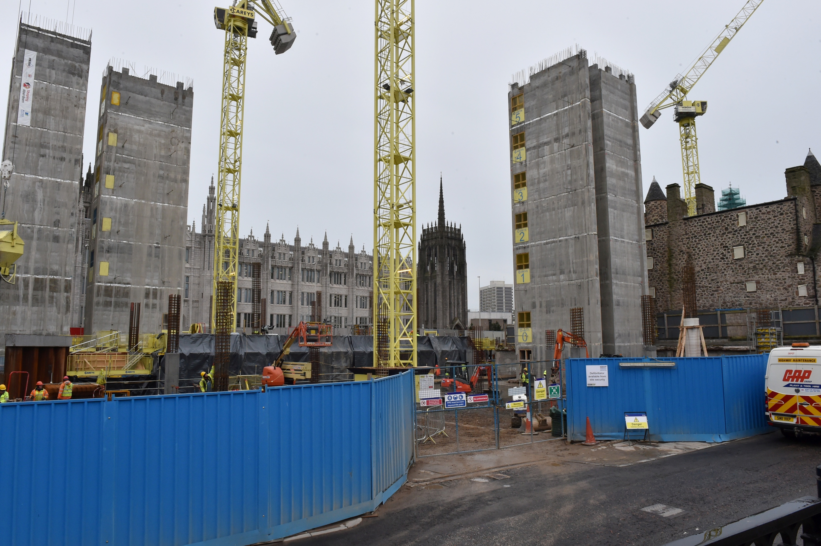 The controversial Marischal Square plan got the go-ahead from councillors.