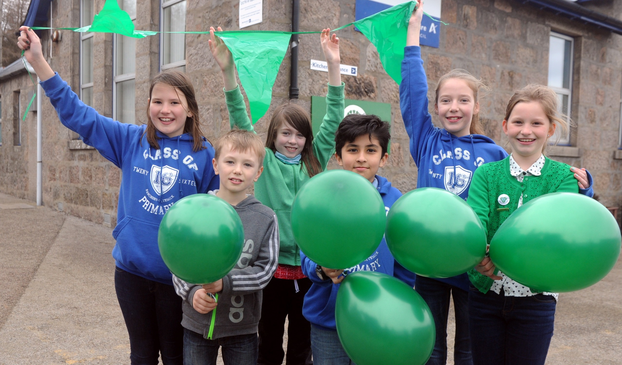 Pupils from left, back, Alex Welsh,   Morven Farquharson, Lucy Stephen,   and front, from left, Lewis Grant,  Taaneer Niazi,   Hasse Verheyde.