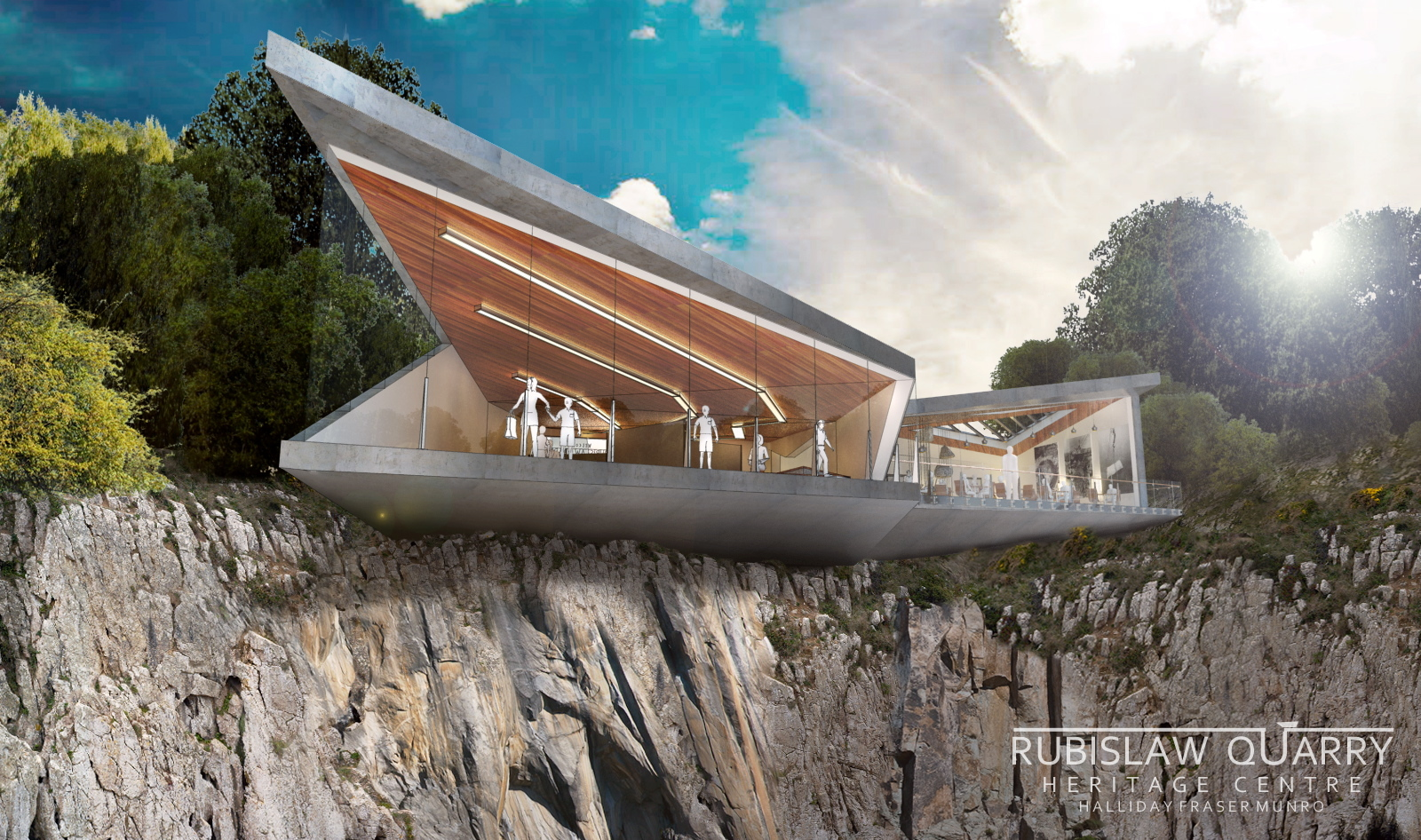 project:  An artist's  impression of  Rubislaw Quarry Heritage Centre.