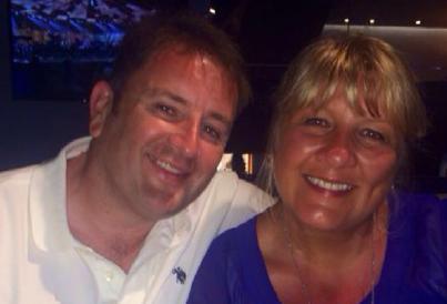 Winner Ian Robbie and his wife Aileen.