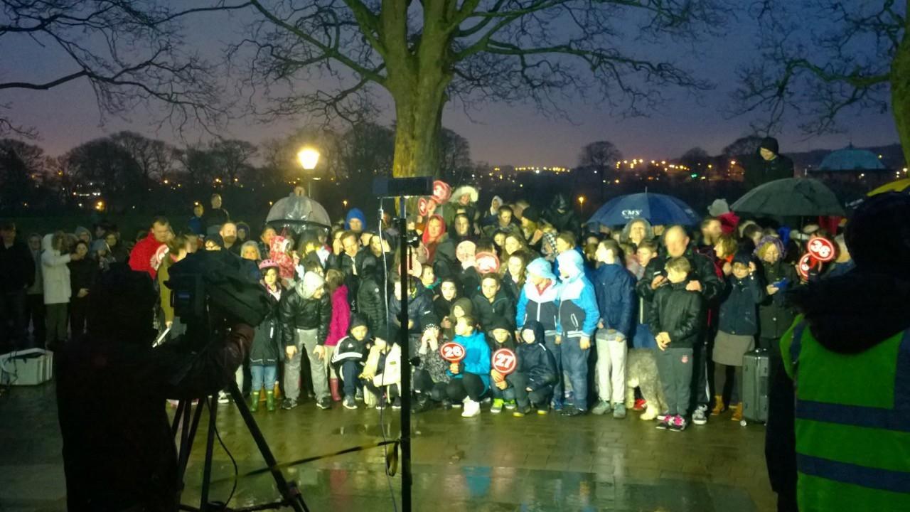 Huge crowds turned up at Duthie Park for the programme.
