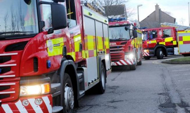 The Scottish Fire and Rescue Service have extinguished the car.