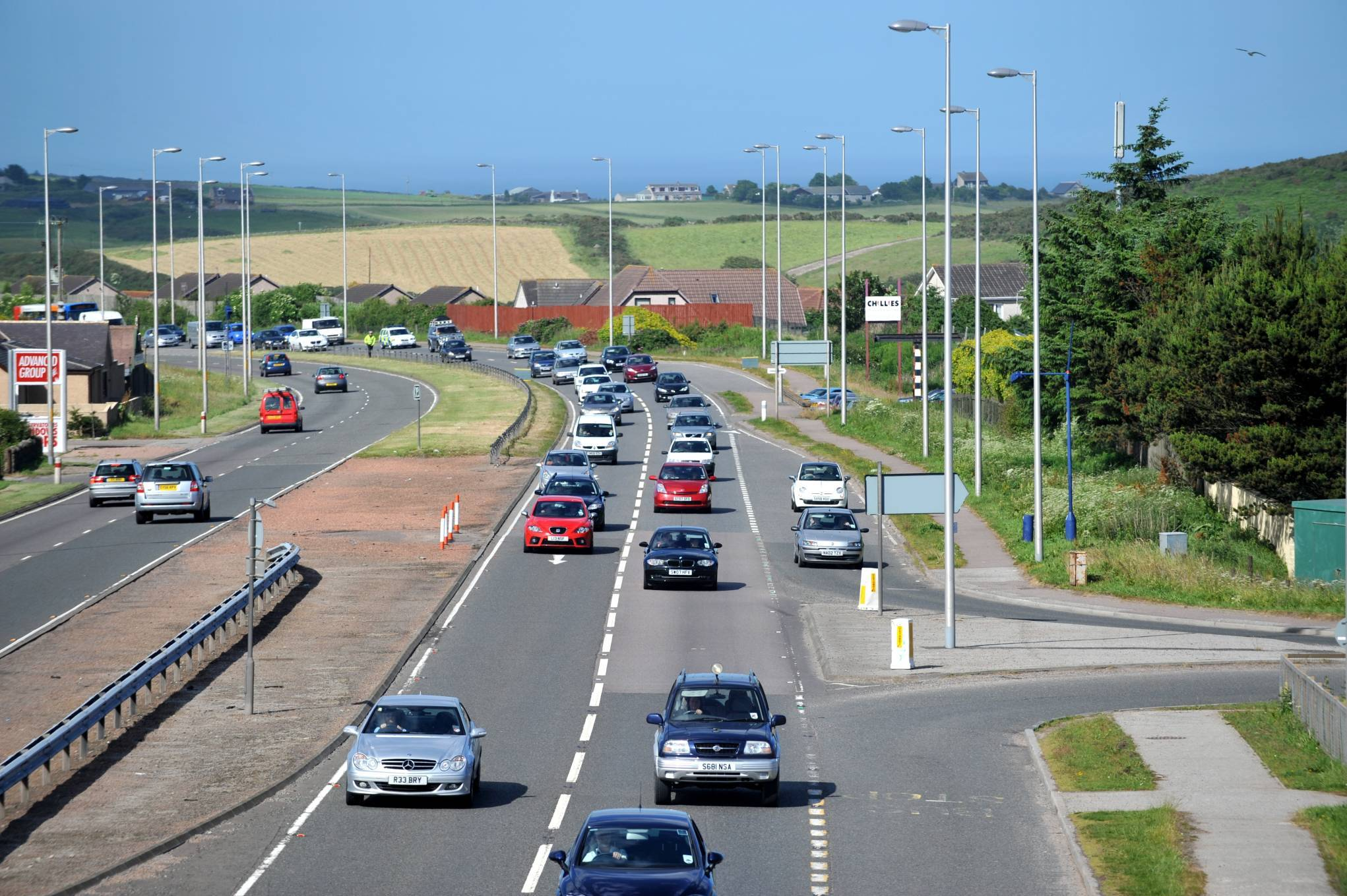 A90 Southbound at Newtonhill.