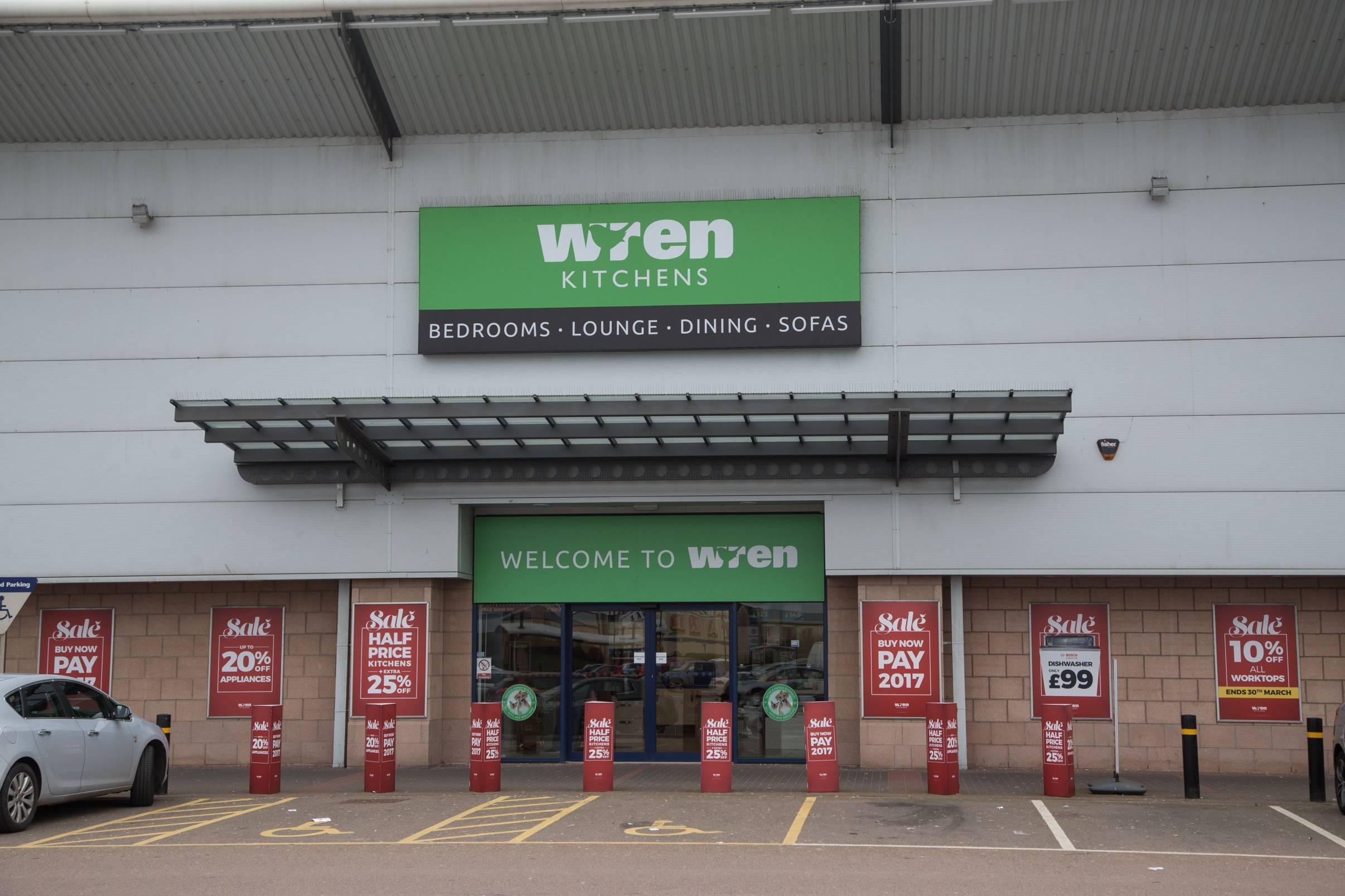 Wren Kitchens at Aberdeen's Beach Boulevard retail park.