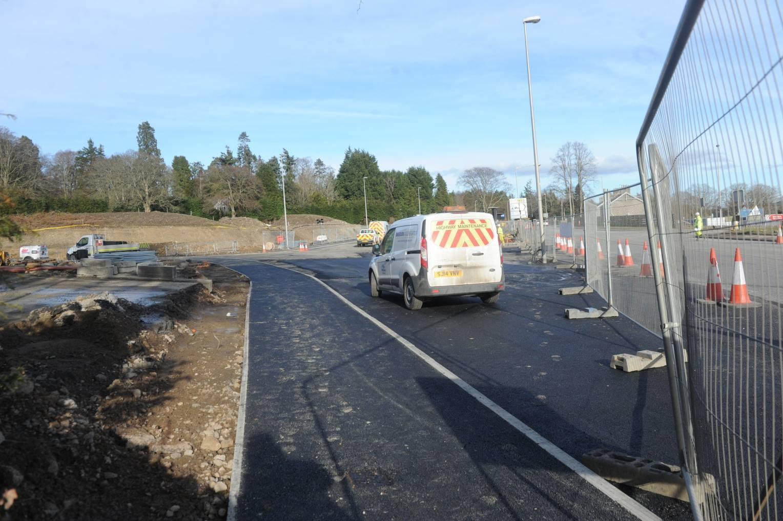 The temporary road will be in operation on the A93 between Milltimber and Peterculter