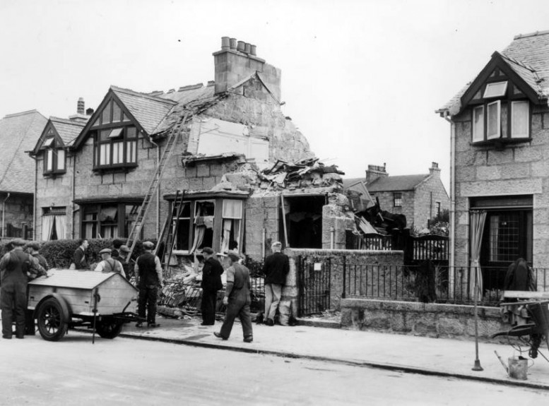 Bomb damage in Forbesfield road.