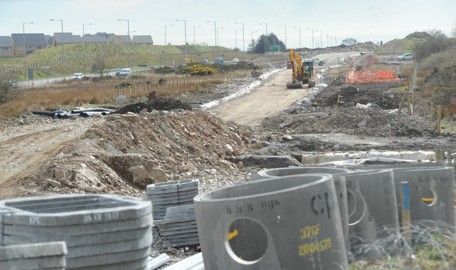 The AWPR  site just before the Charleston flyover on the A90.