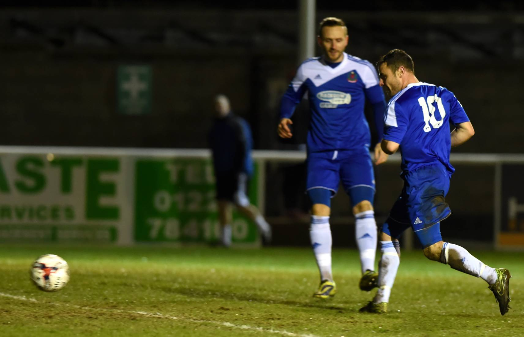 Jamie Watt, right, playing for Cove Rangers.