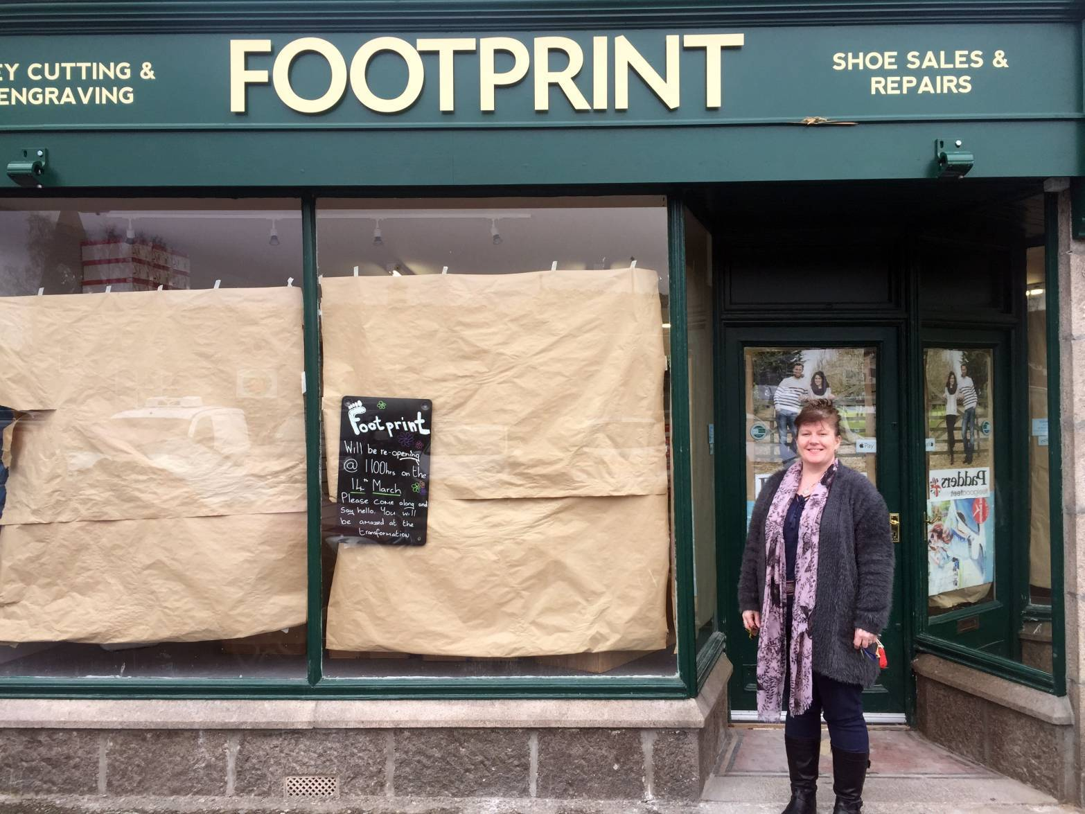 Footprint in Aboyne which was hit by flooding is to reopen today.