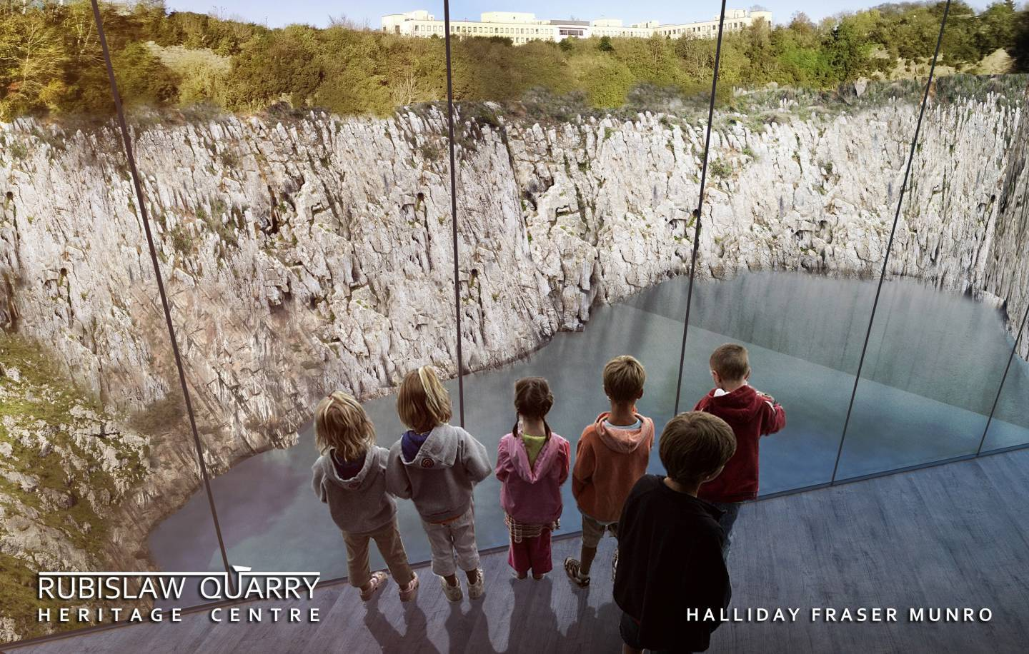 Artist impressions of the planned Rubislaw Quarry project