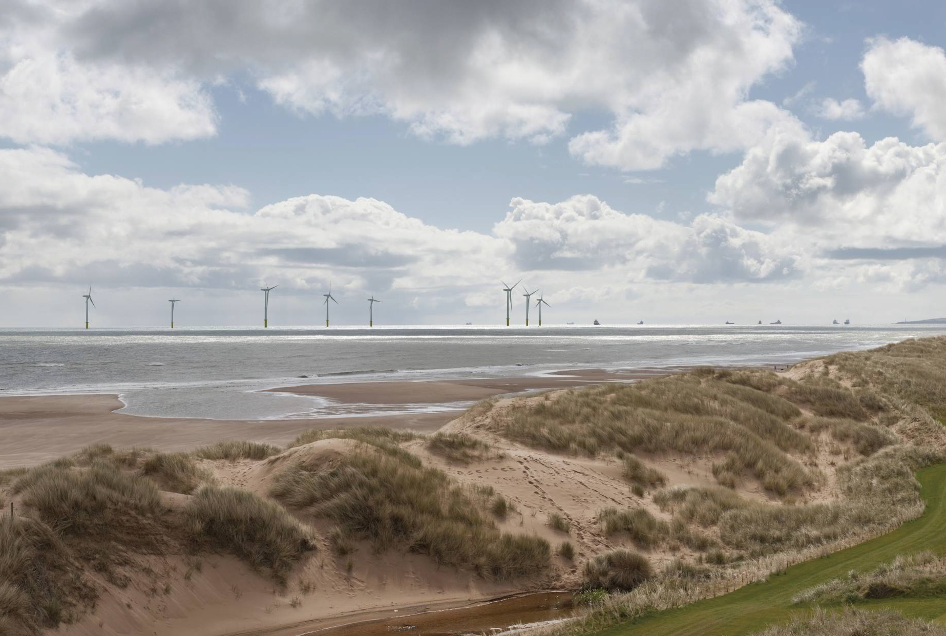 An artist impression of the planned windfarm.