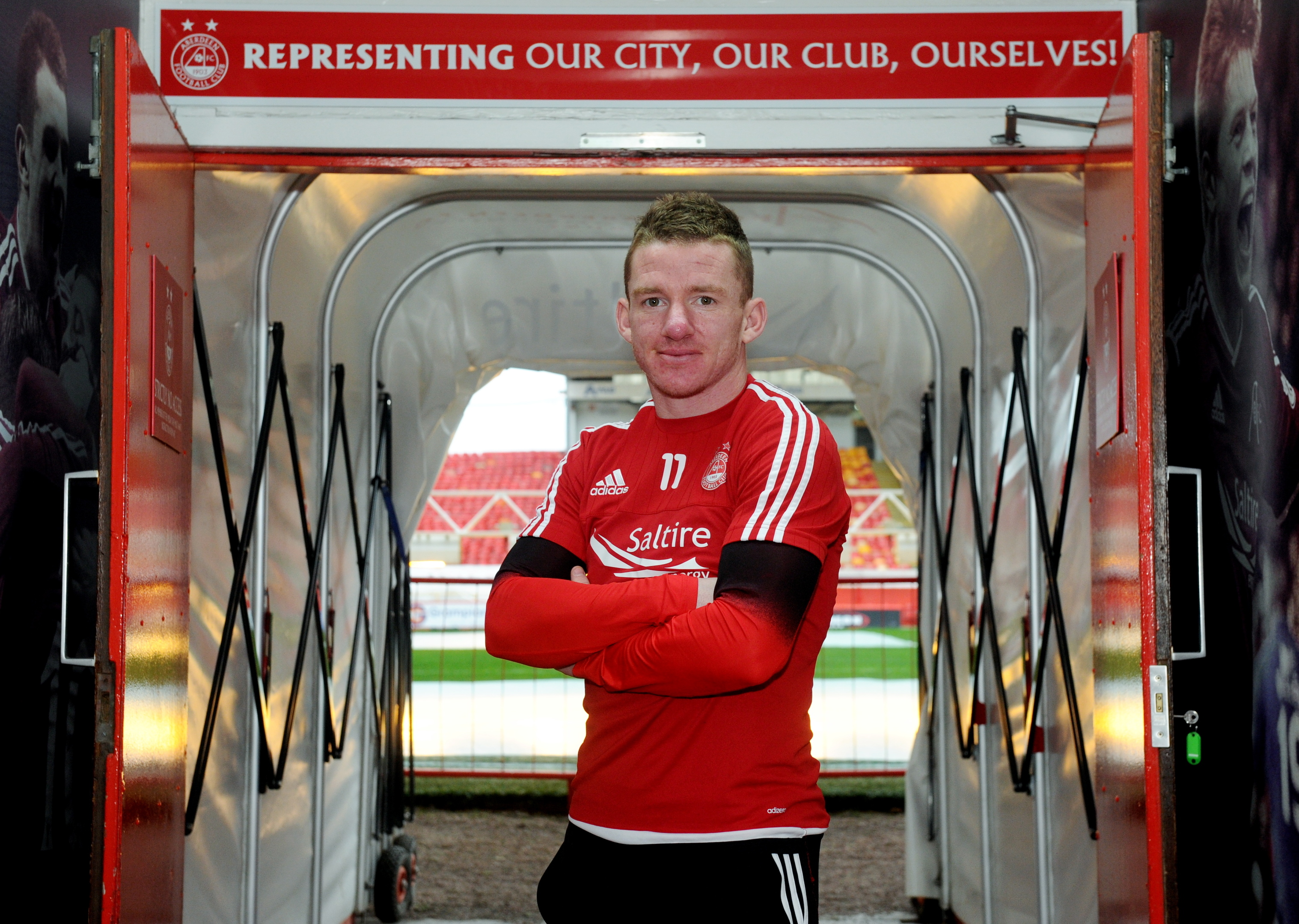 Jonny Hayes at Pittodrie.