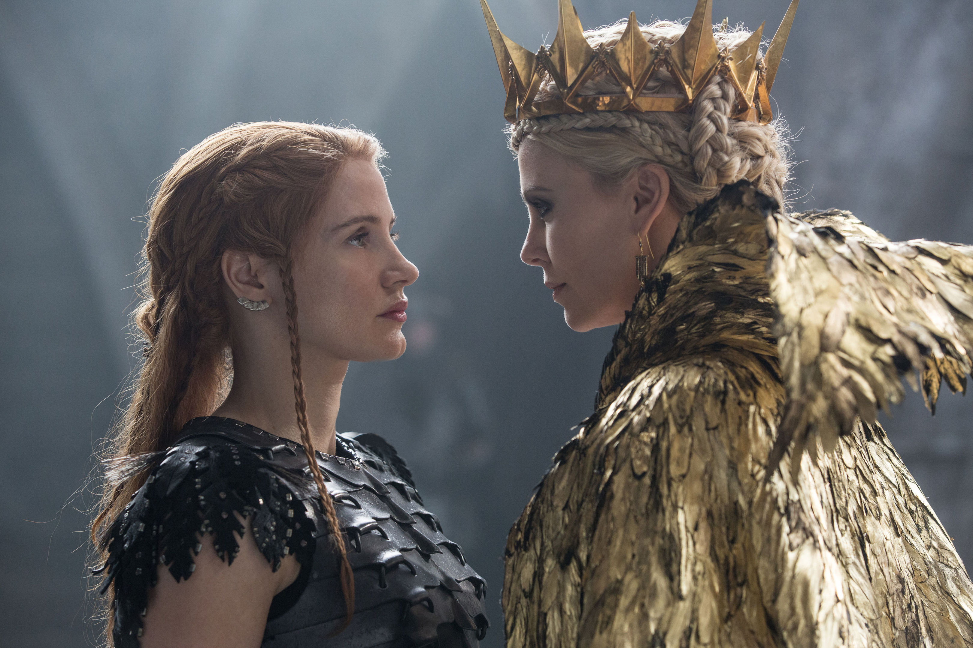 Jessica Chastain and Charlize Theron star in The Huntsman: Winter's War