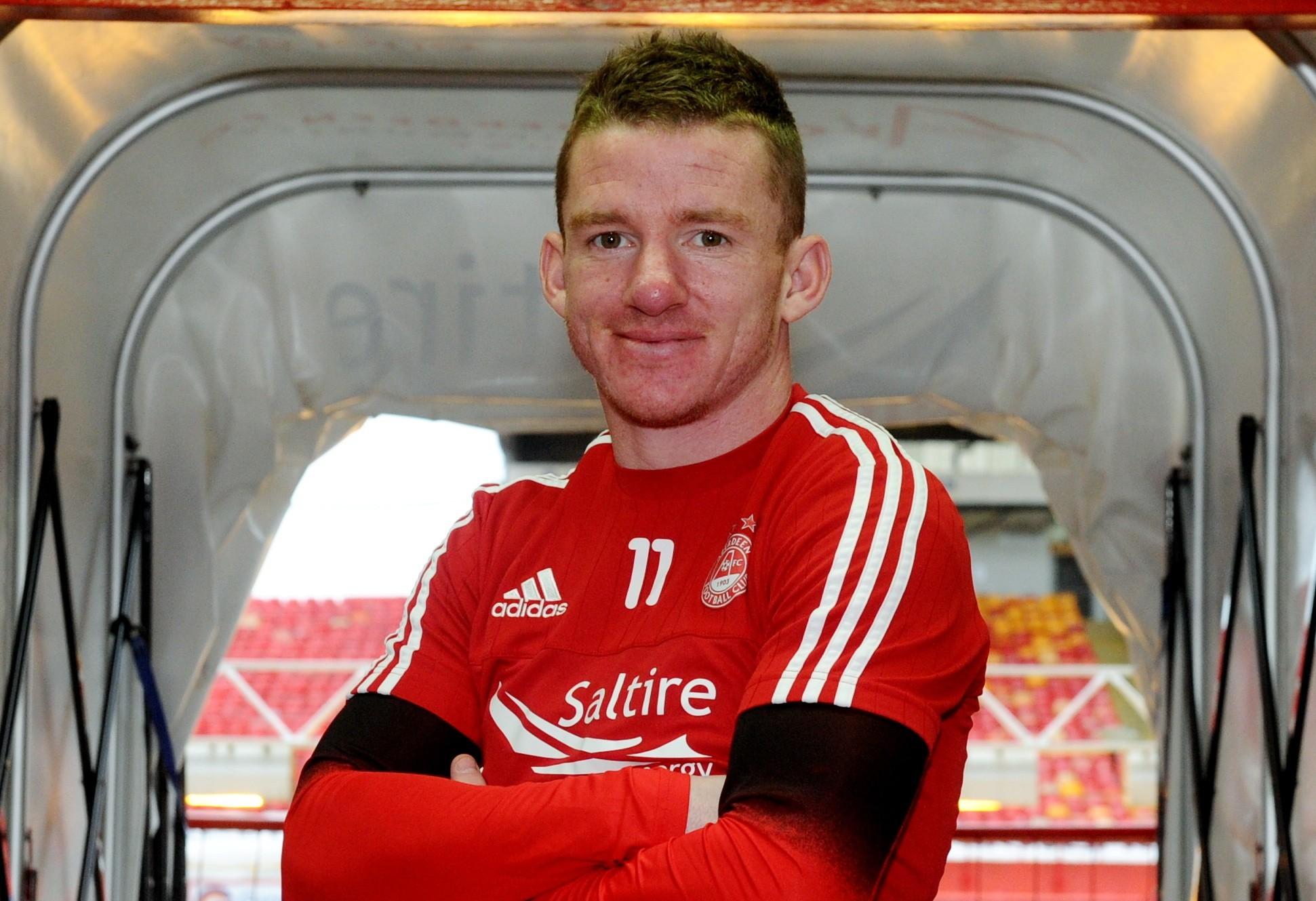 EVER READY: Aberdeen's Jonny Hayes.