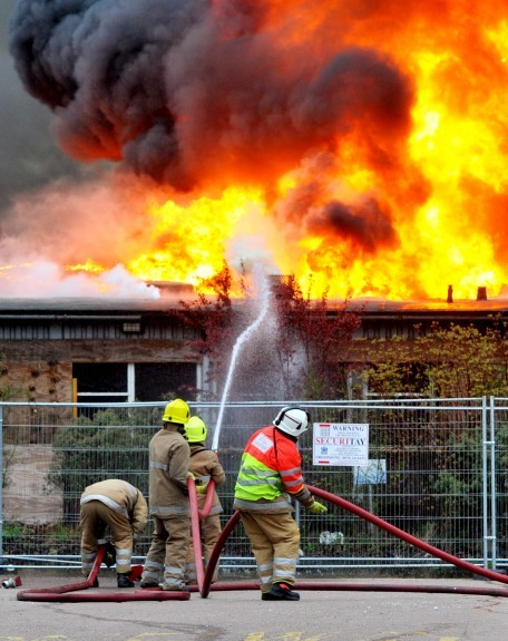 Firefighters took 16 hours to stop the blaze.