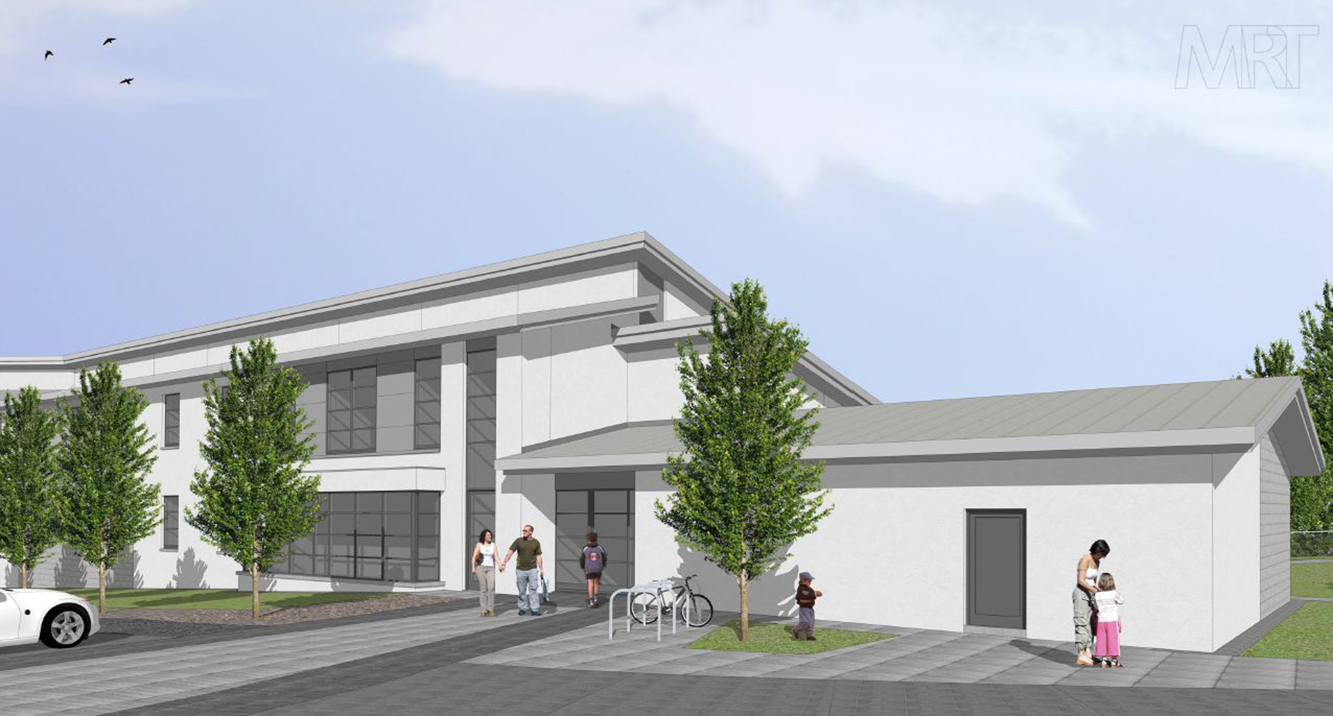An artist impression of what the centre will look like.