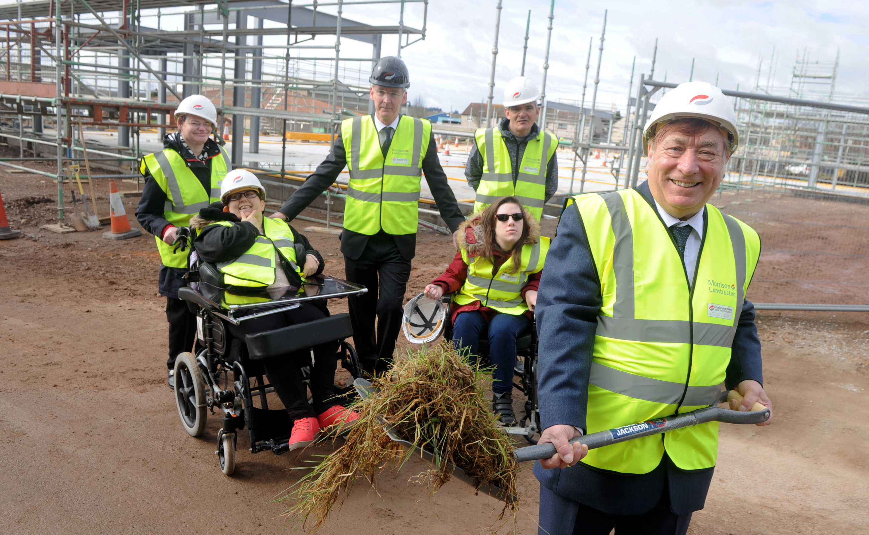 Cllr Ironside with some of the people who will use the new facility.