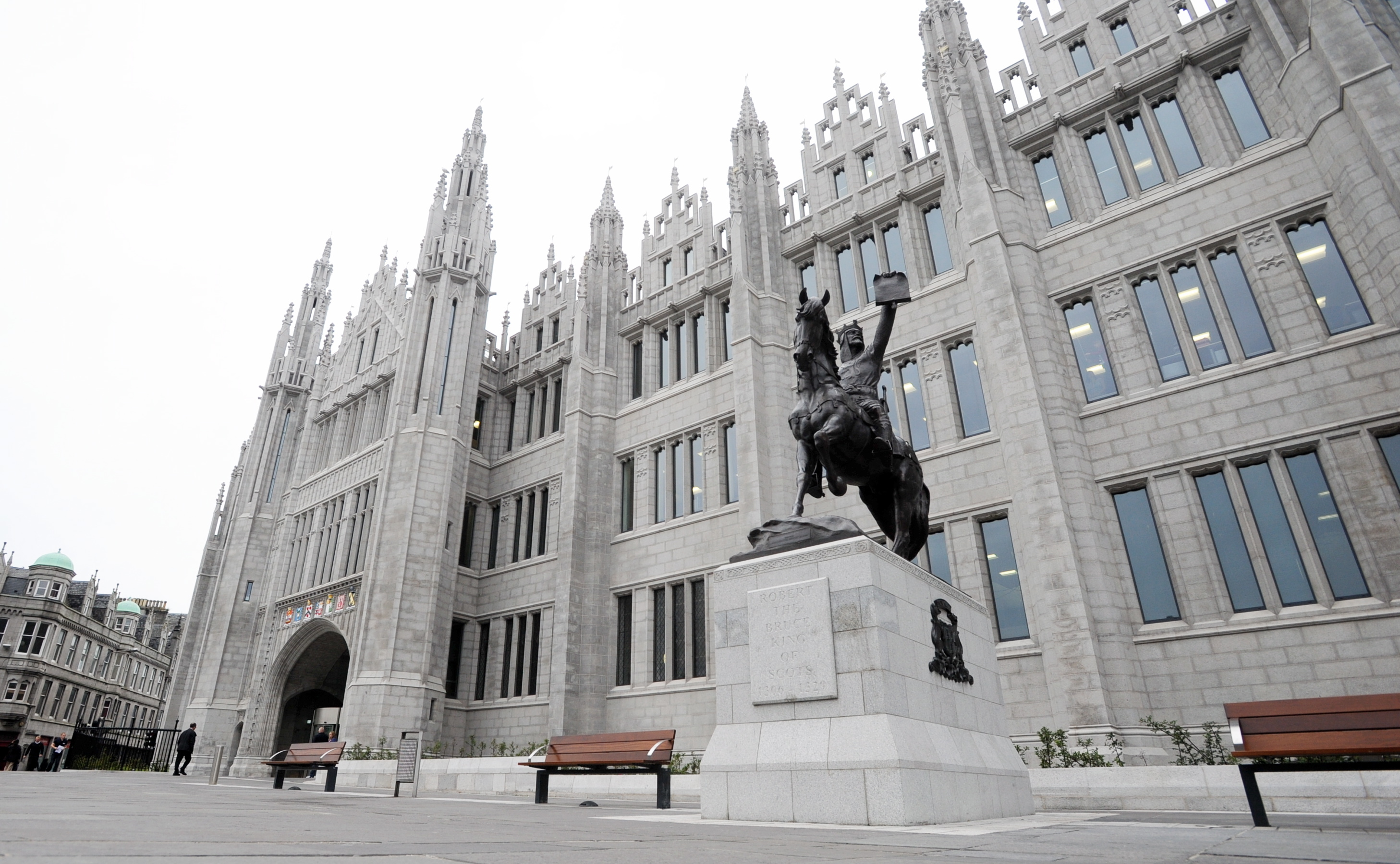 Marischal College, the local authority's HQ.