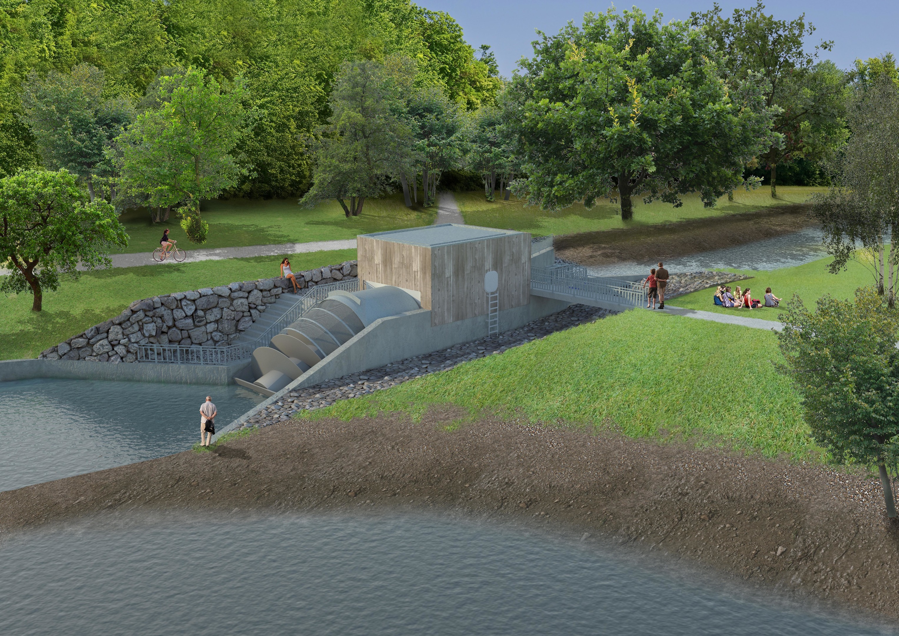 An artist's impression of the Donside Hydro scheme.
