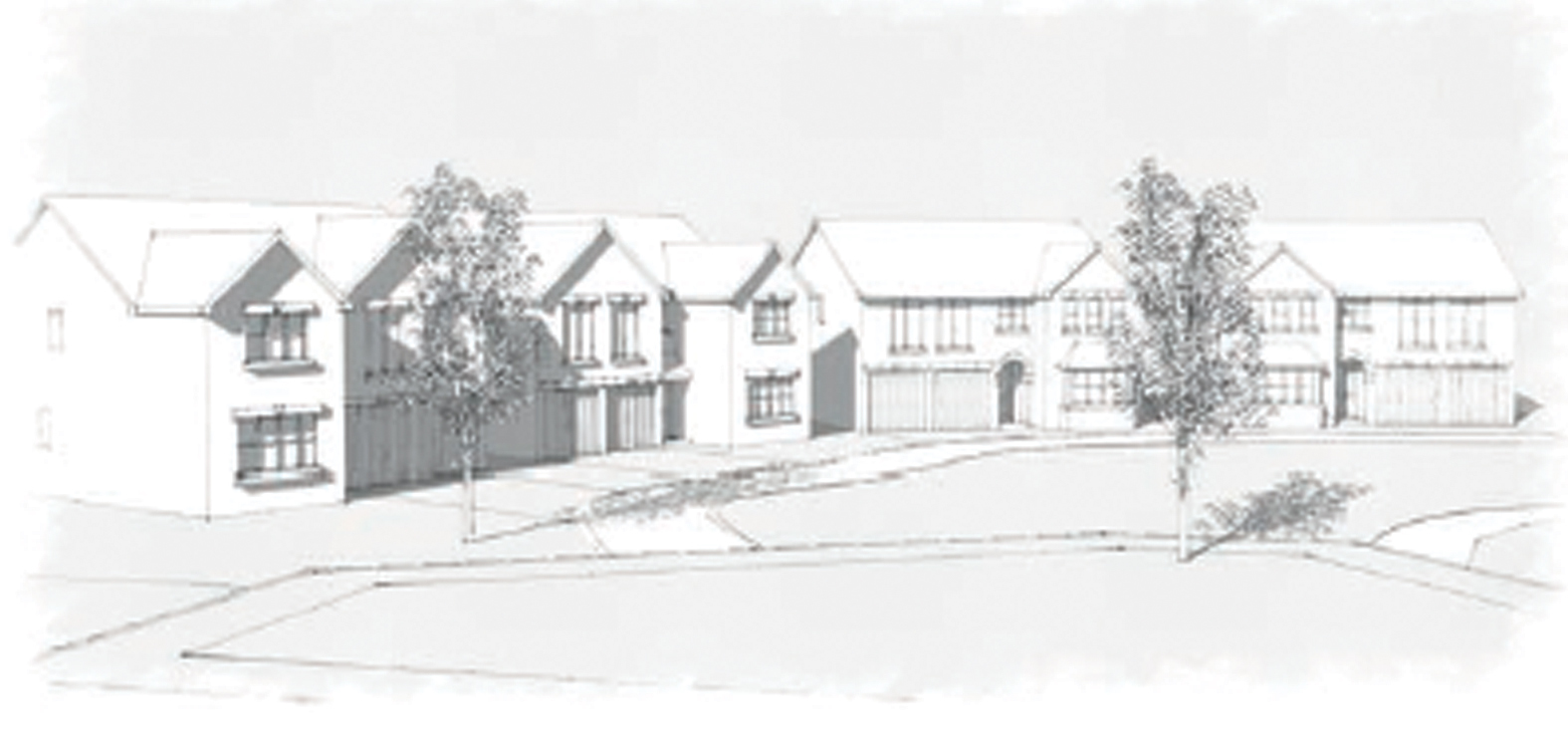 An artist's impression of the 176 homes proposed for the site on the outskirts of Aberdeen in Portlethen.