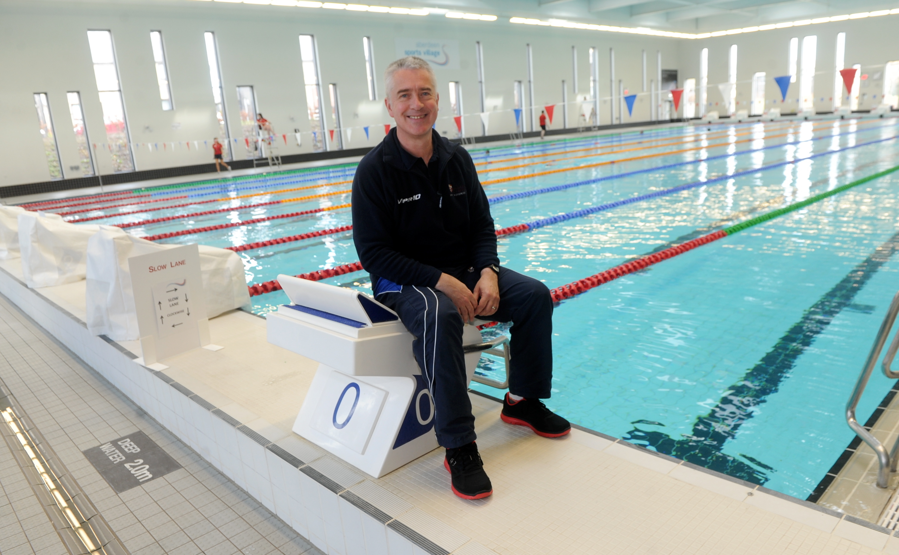 Patrick Miley at the Aberdeen Aquatics Centre. (Picture by Chris Sumner.)