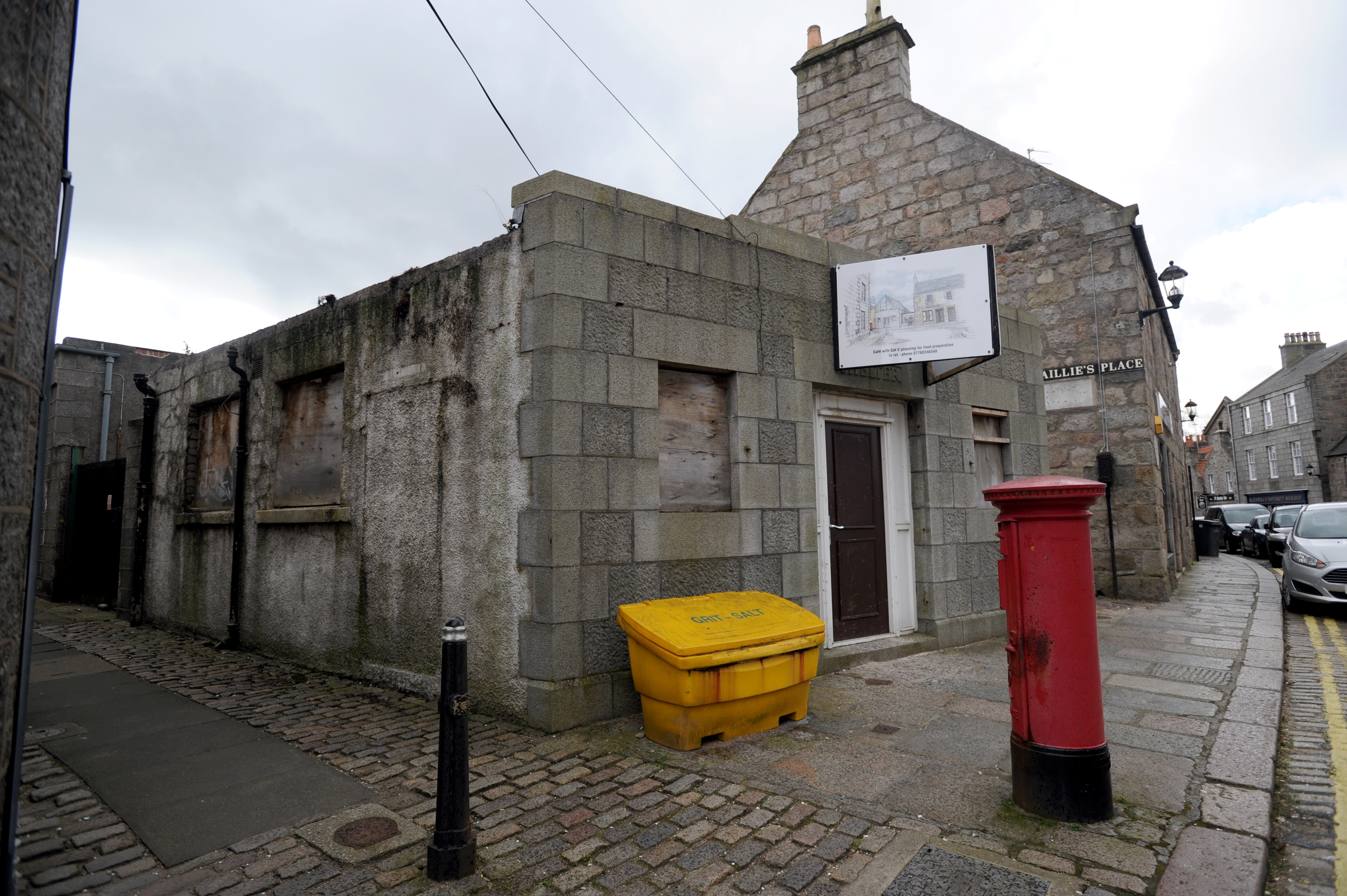 The old public toilet on High Street in Old Aberdeen.