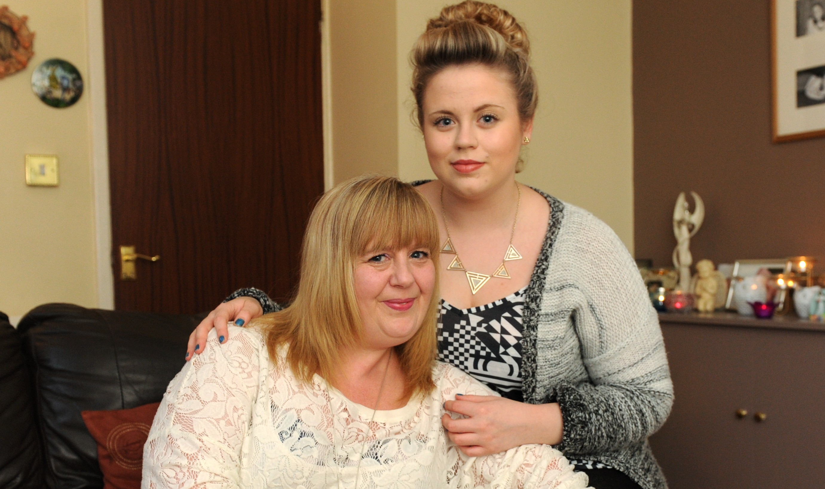 Bizzy, who  died earlier this month, with daughter Laura.