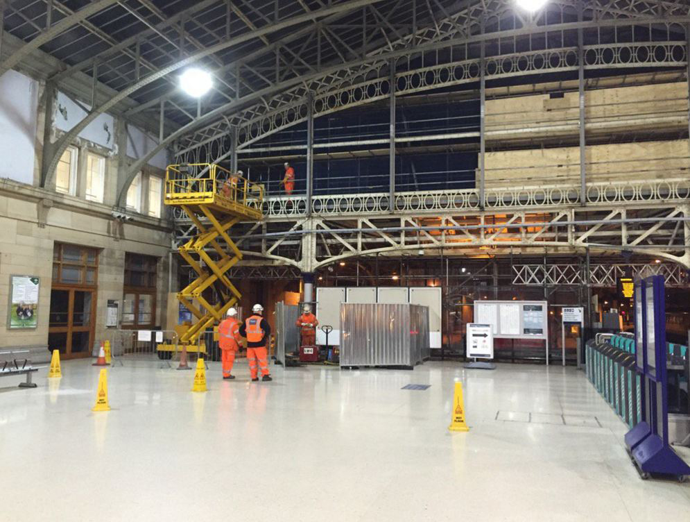 Work has started on the main concourse of Aberdeen station.