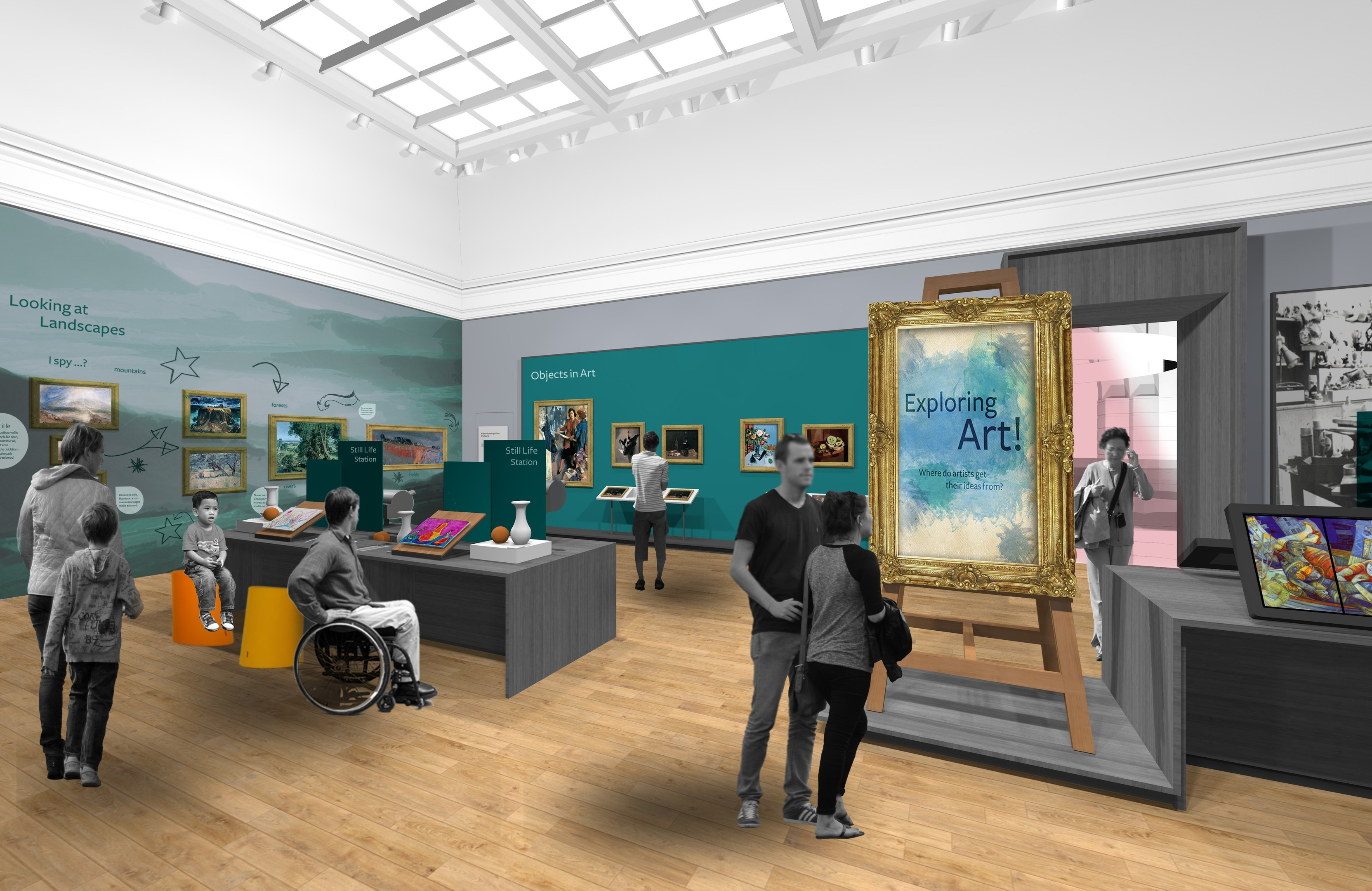 Artist's impressions of how the gallery could look.