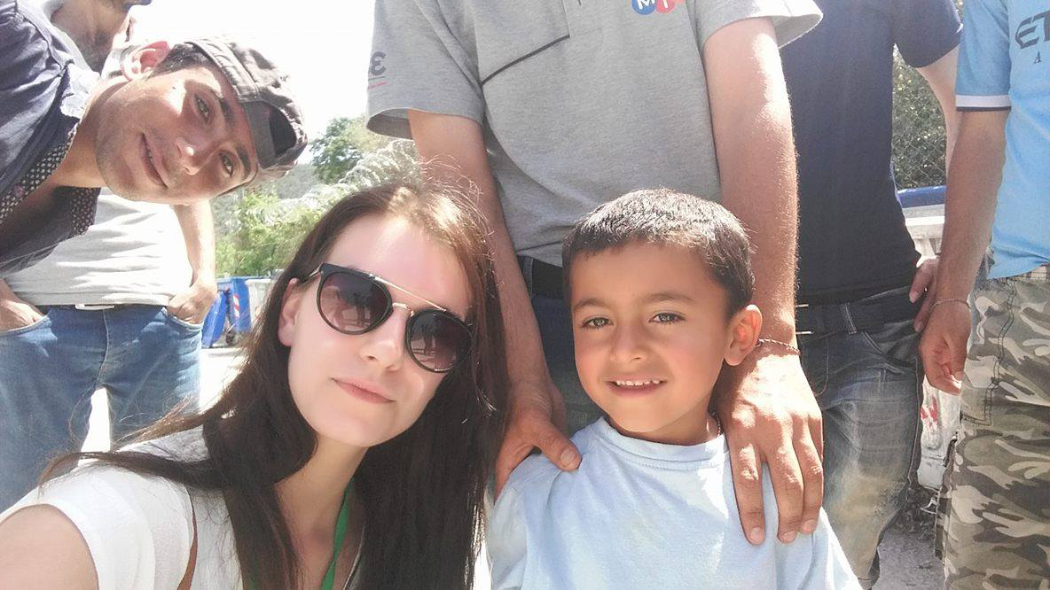 Support:  Stephanie helped Yezidi refugees on her visit.