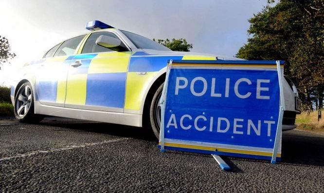 The A935 Brechin to Montrose road is blocked following the crash.