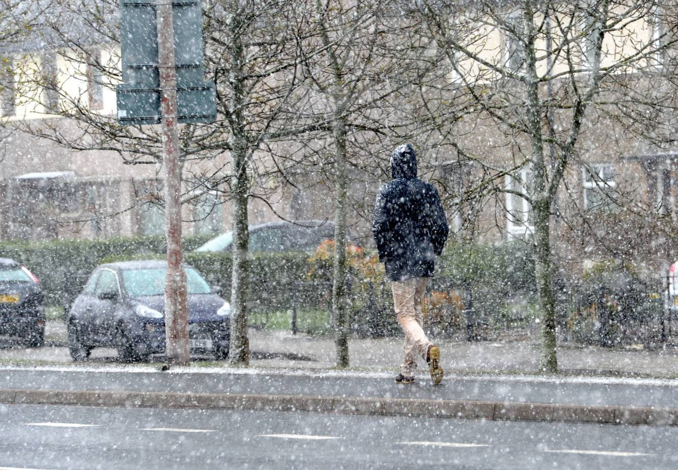 Snow is expected to fall in Aberdeen this weekend.