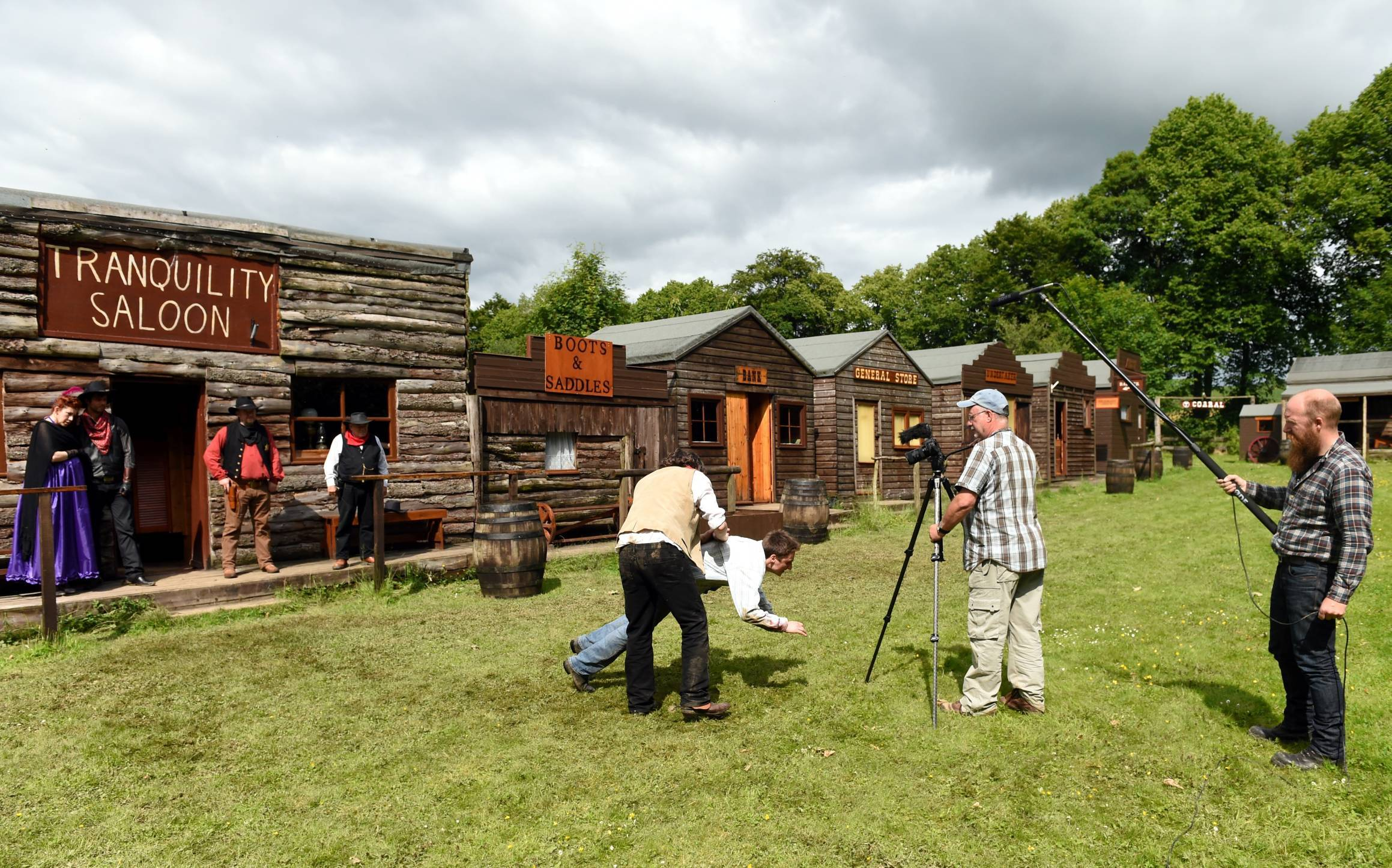The western town of Tranquility, near Huntly, will be filmed on Monday.