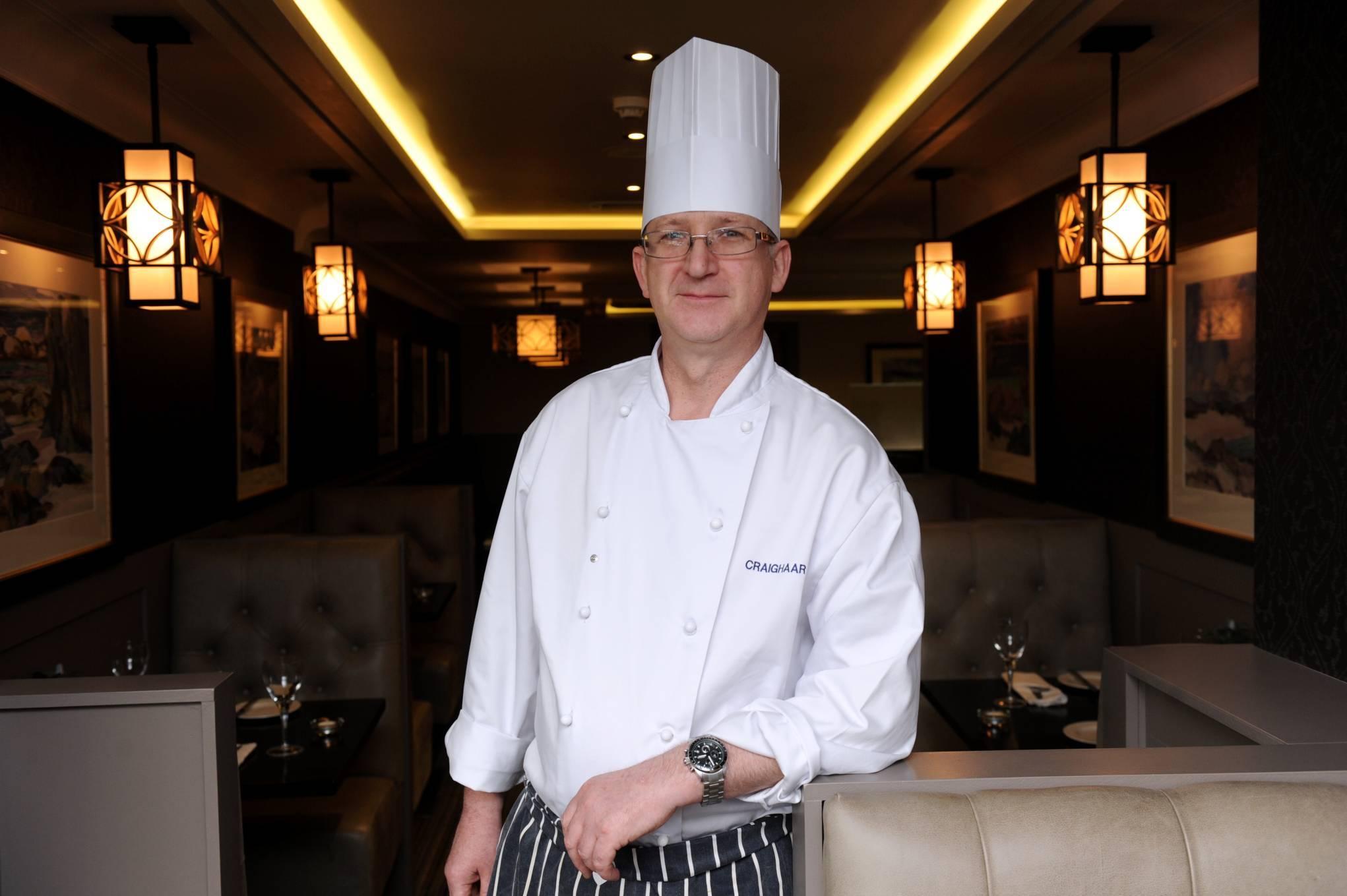 Head Chef Kenny Moir at the Craighaar Hotel.