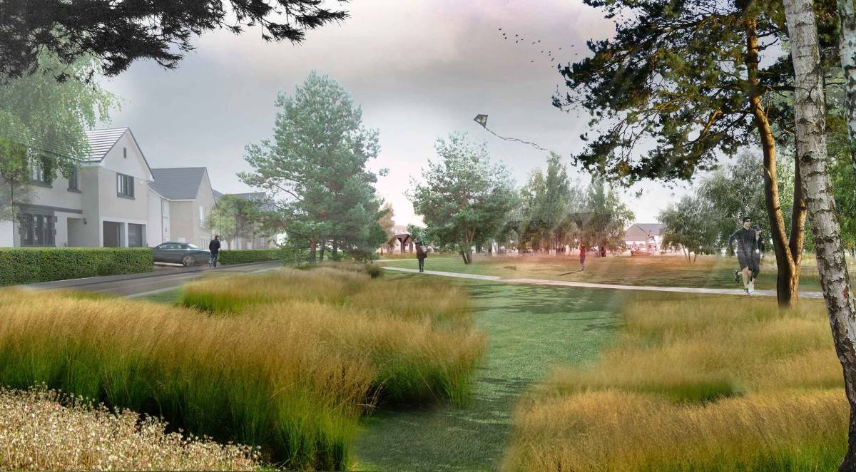 An artist's impression of the the Countesswells development