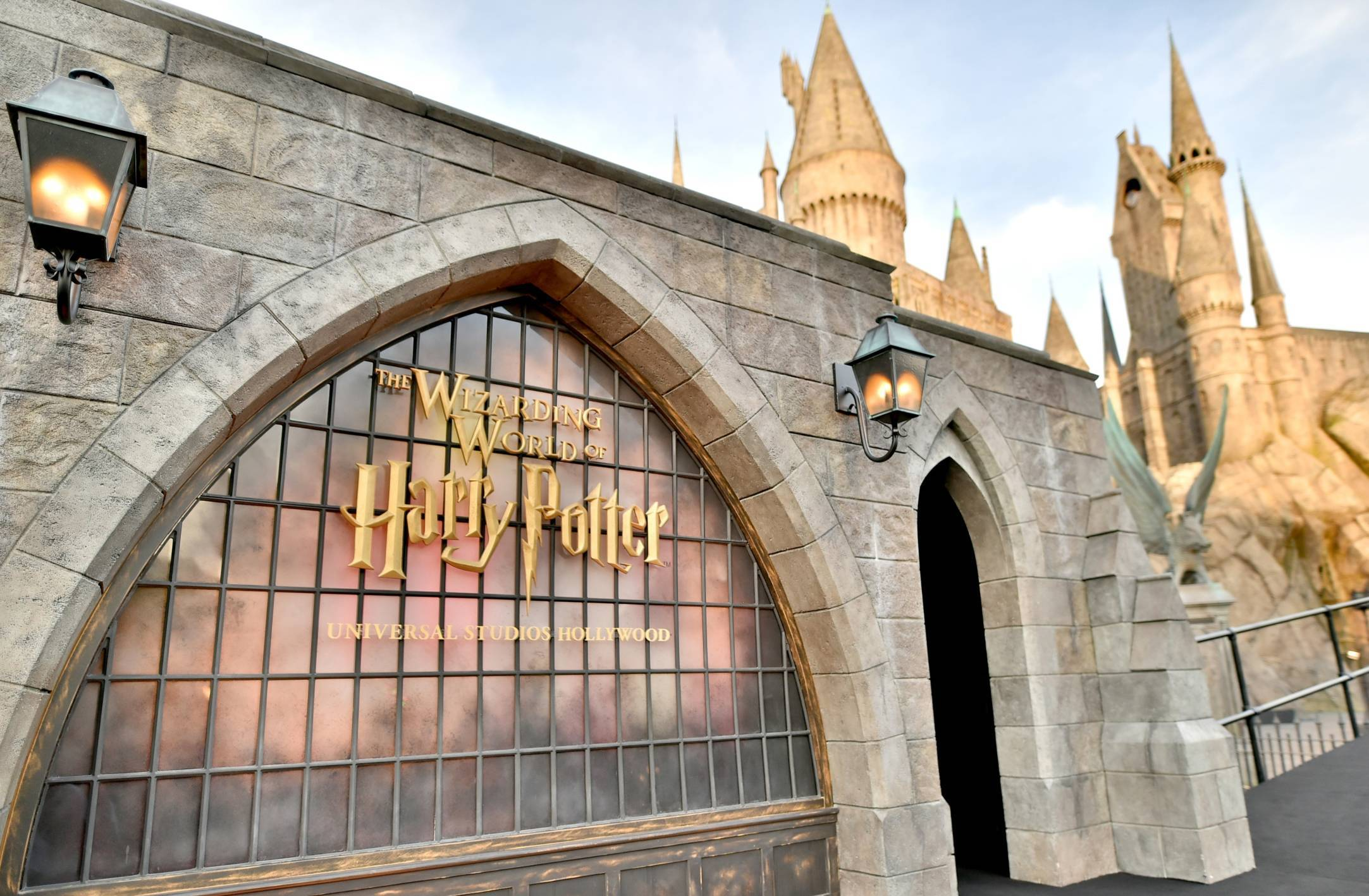 Signage at the opening of the 'Wizarding World of Harry Potter'