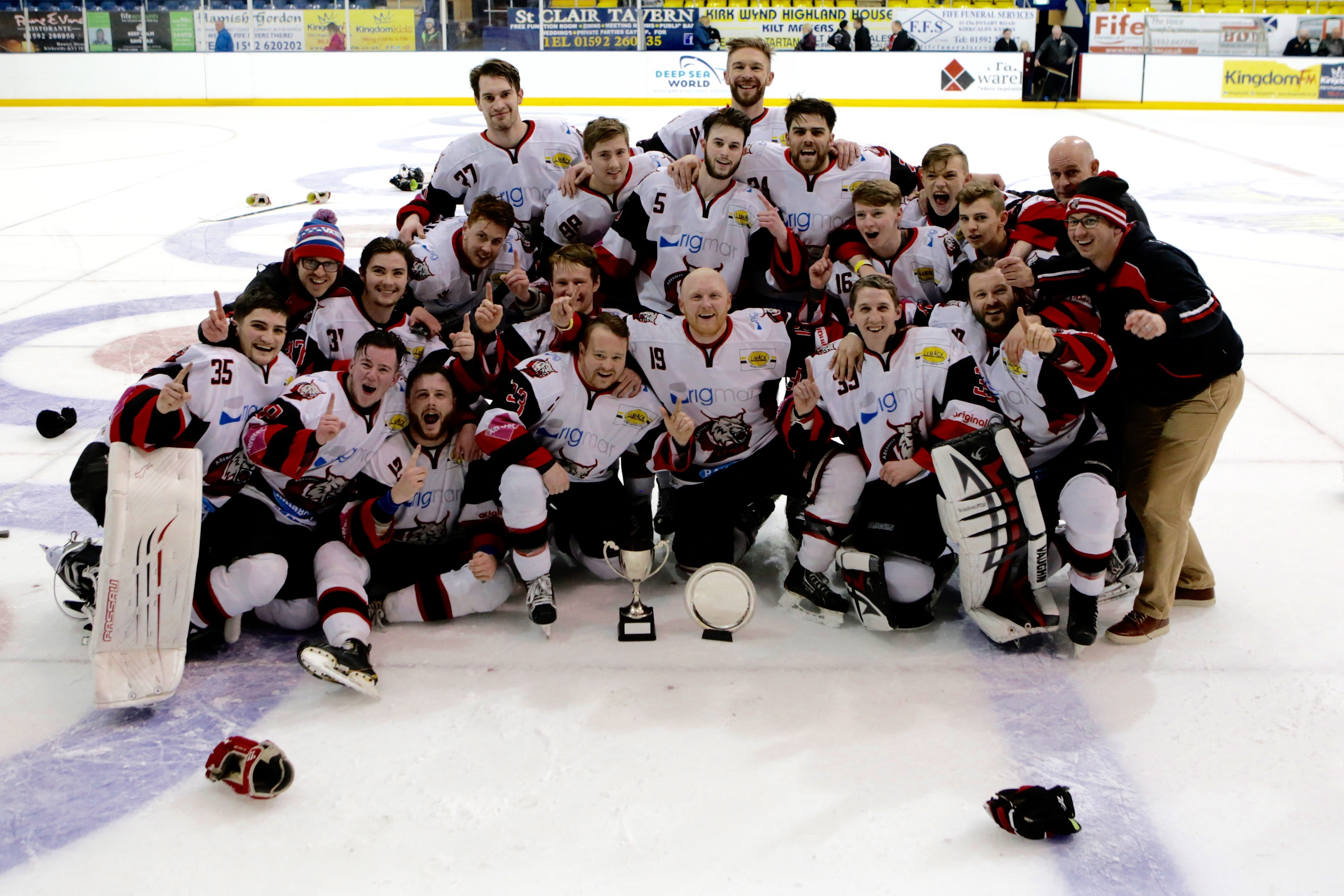 The Aberdeen Lynx were crowned playoff Champions. Picture by Kenneth Malcolm Photography.