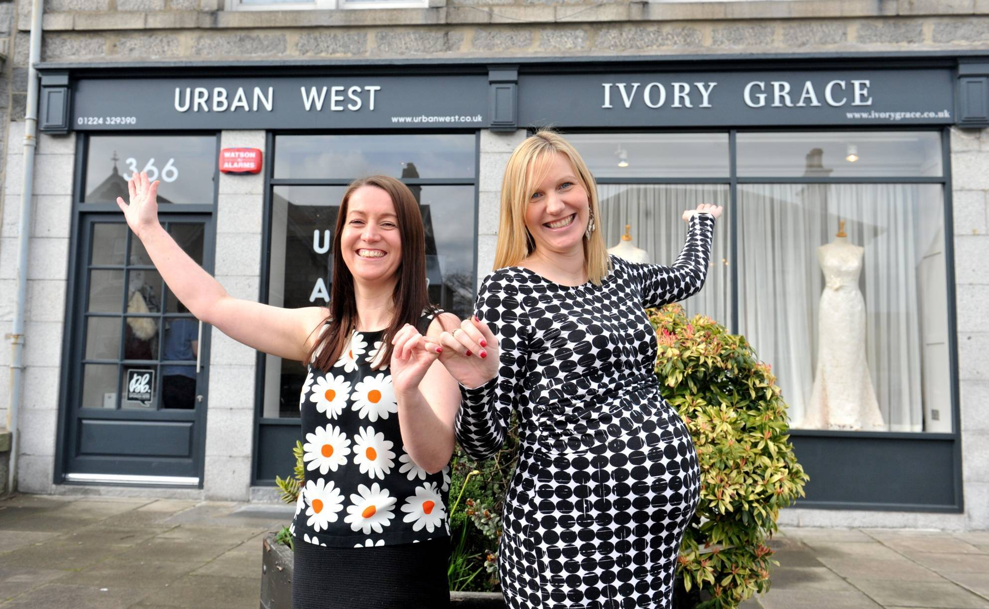 Susie Shand, owner of Urban West, and Kayleigh Brown, owner of Ivory Grace
