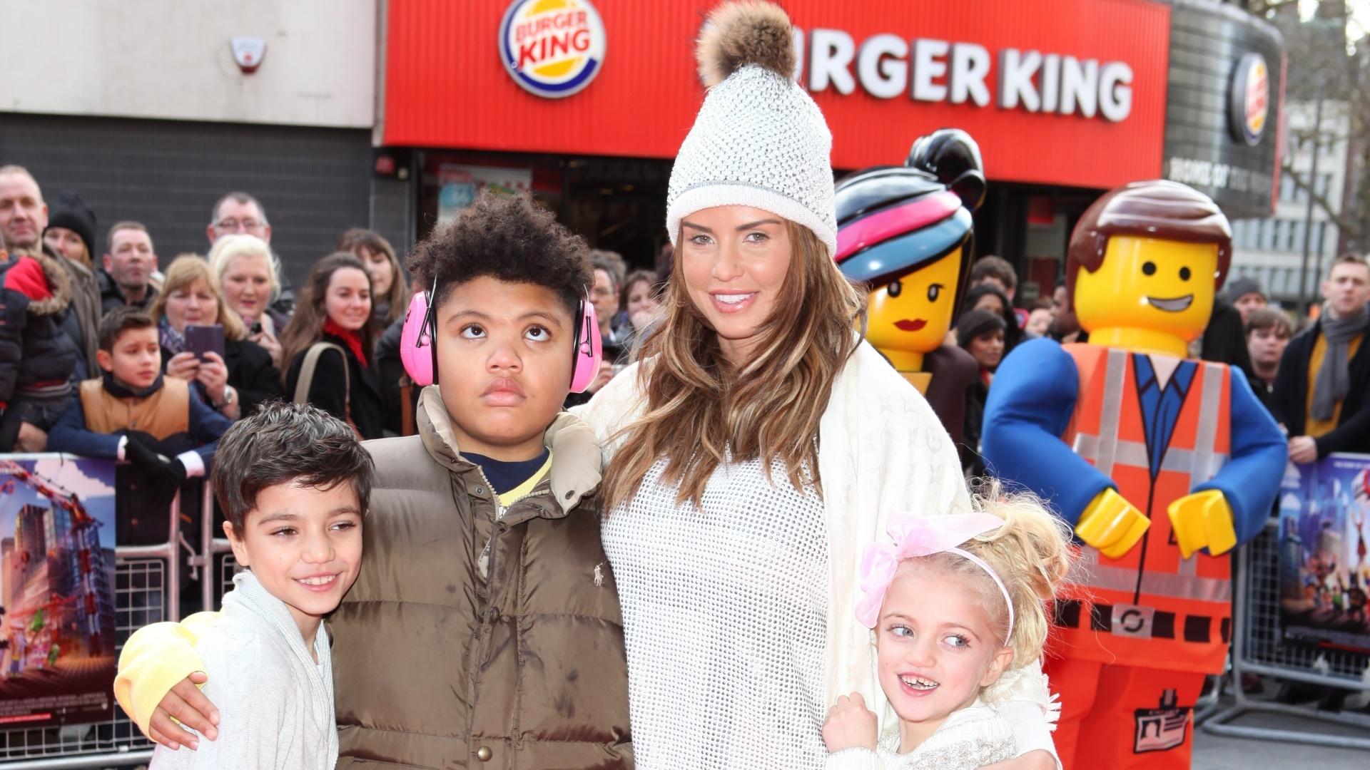 Katie Price and her children, Junior, Harvey and Princess