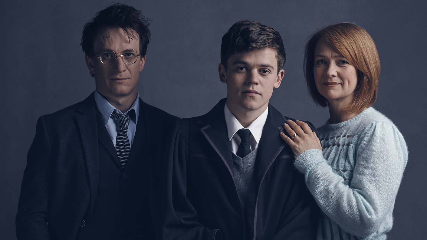 Harry Potter (Jamie Parker), Albus Potter (Sam Clemmett) and Ginny Potter (Poppy Miller) (Handout)