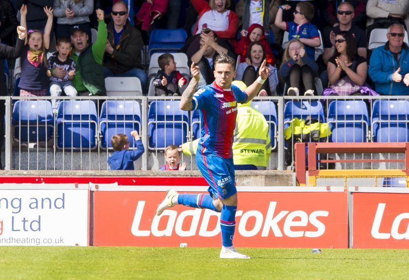 Inverness CT's Miles Storey celebrates after he scores his side's first