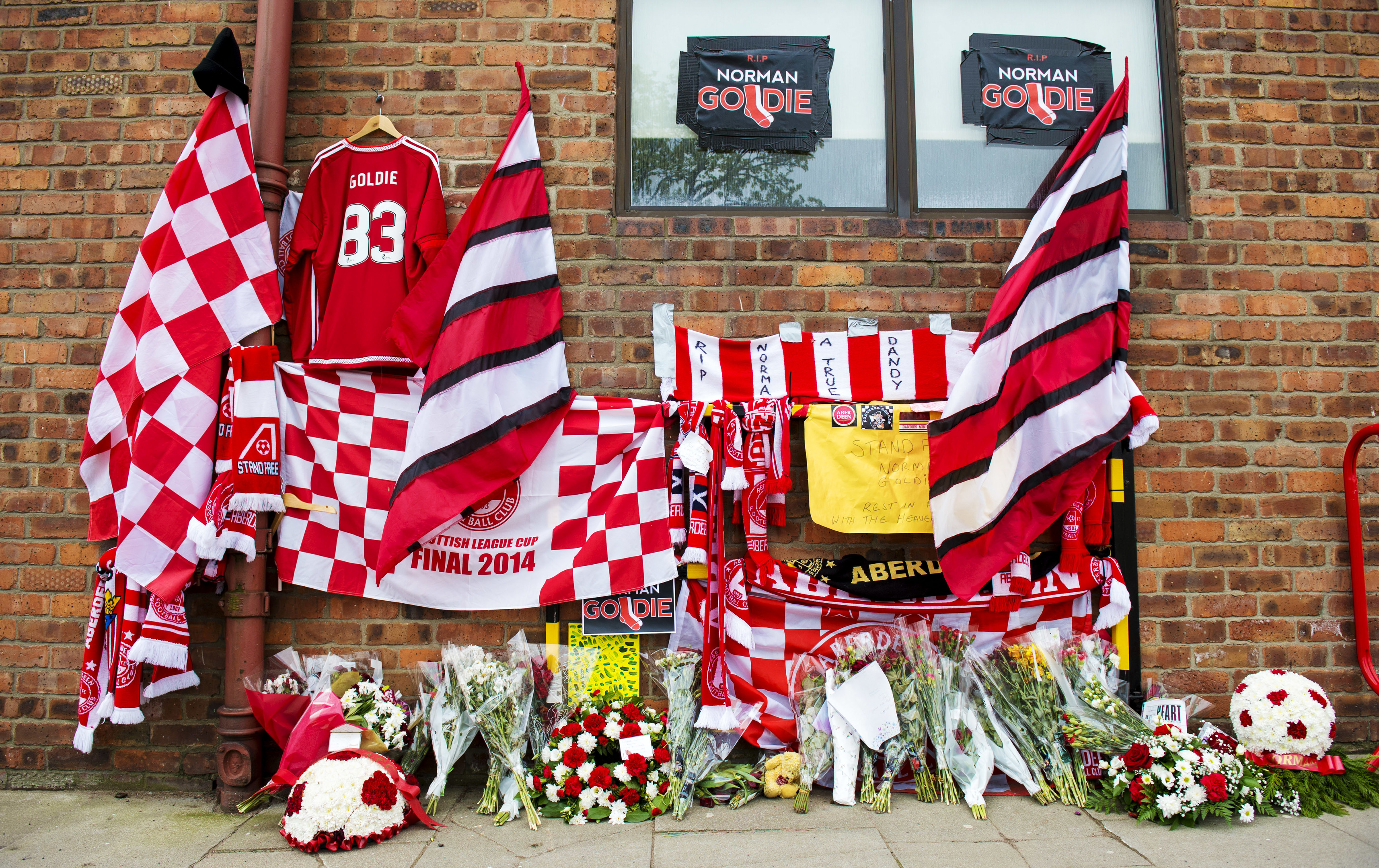 Tributes to Aberdeen fan Norman Goldie
