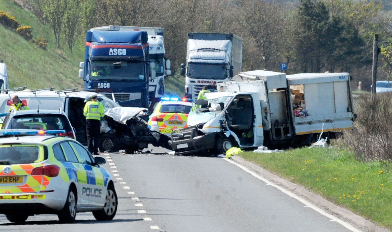 The crash happened on the  A90 near Hatton.