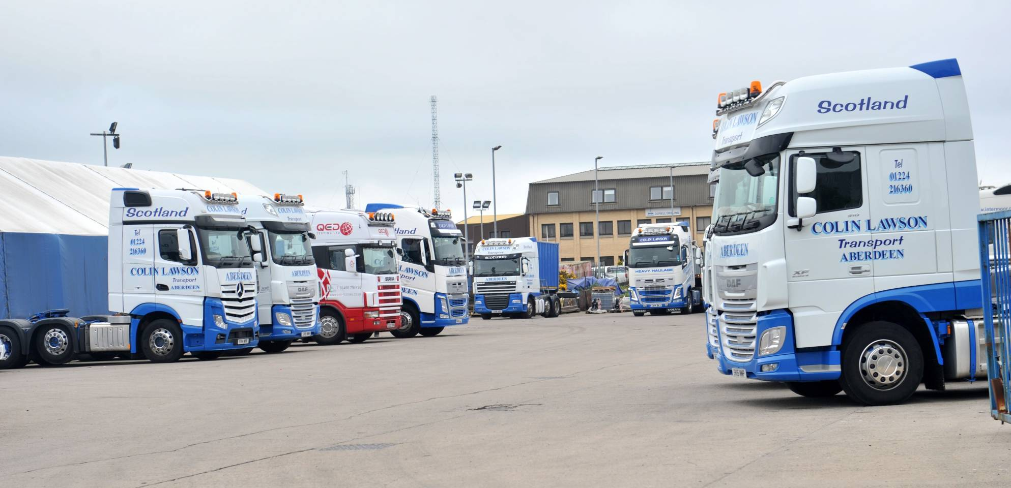 The incident happened at Colin Lawson Transport at Hareness Park.